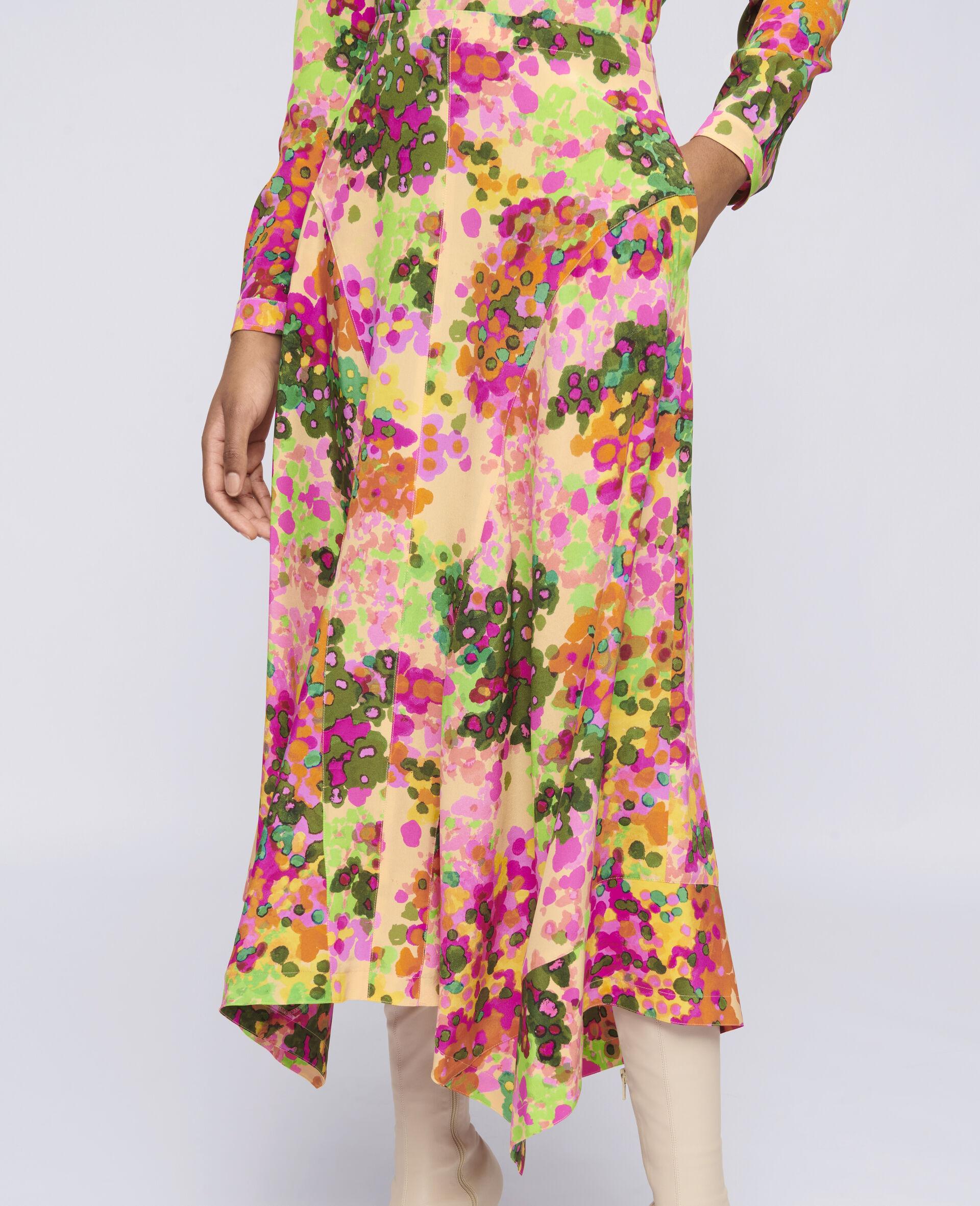 Naya Silk Skirt-Multicolour-large image number 3