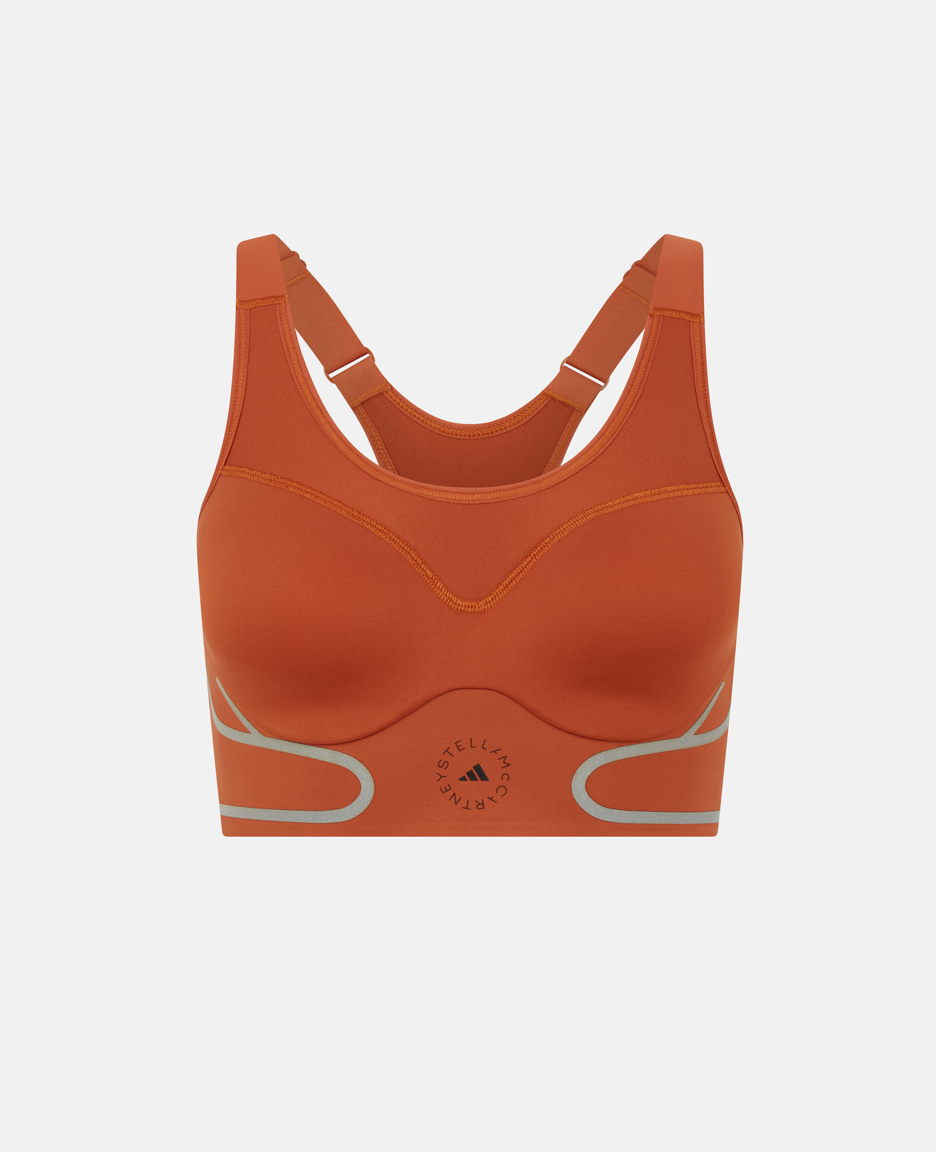 Burnt Brick TruePace Training Bra-Orange-large image number 0