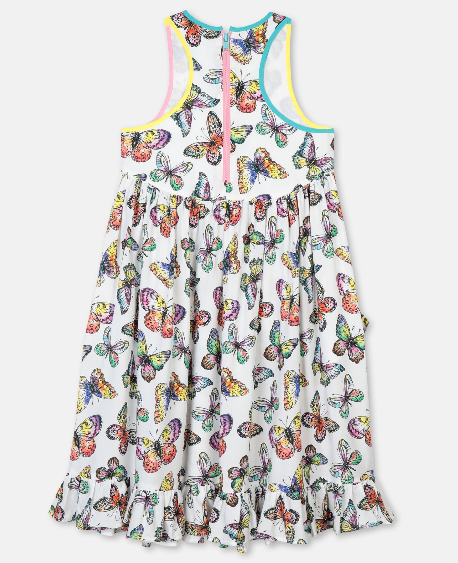Butterfly Viscose Dress-Multicolour-large image number 3