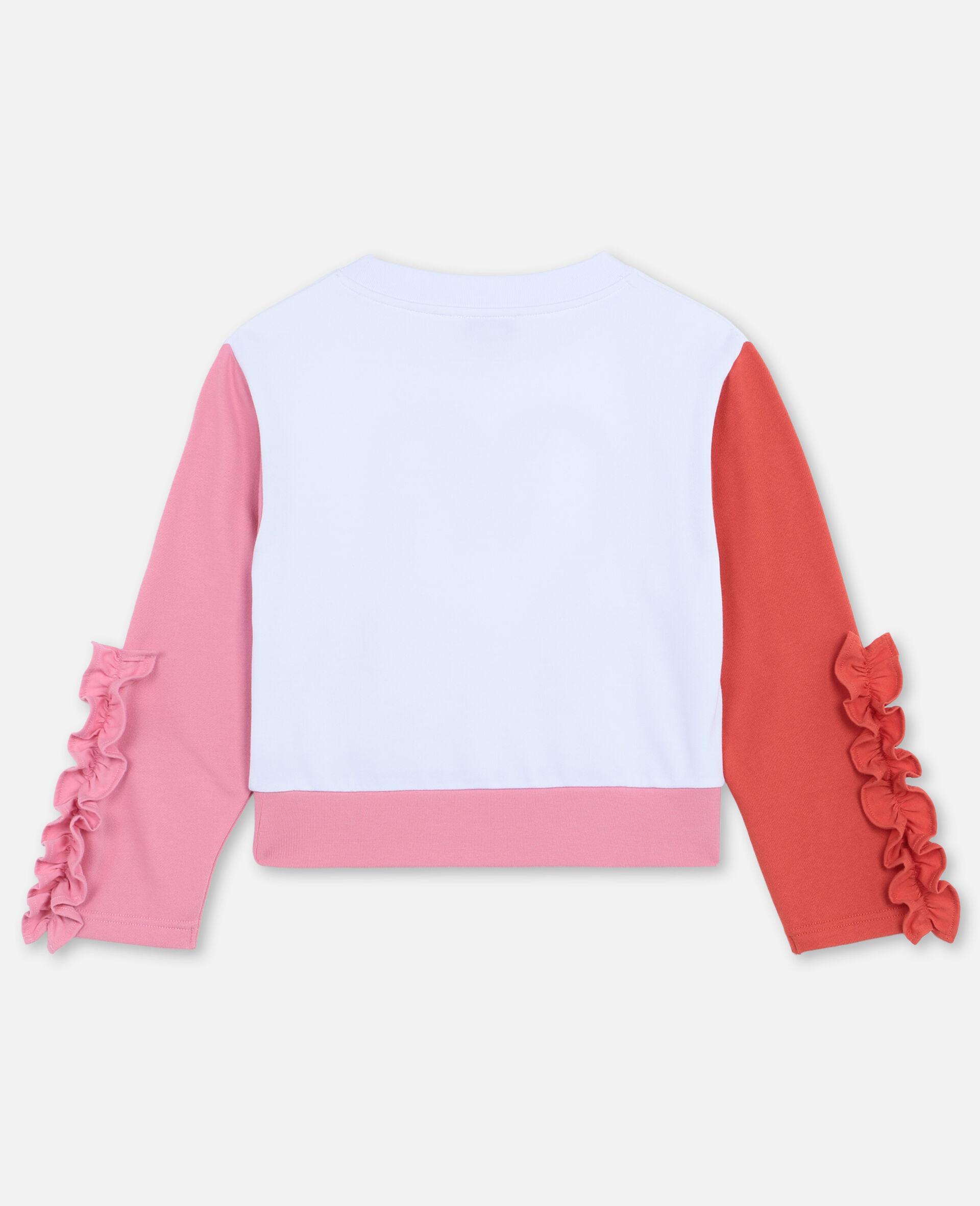 Flamingo Cotton Fleece Sweatshirt -White-large image number 3