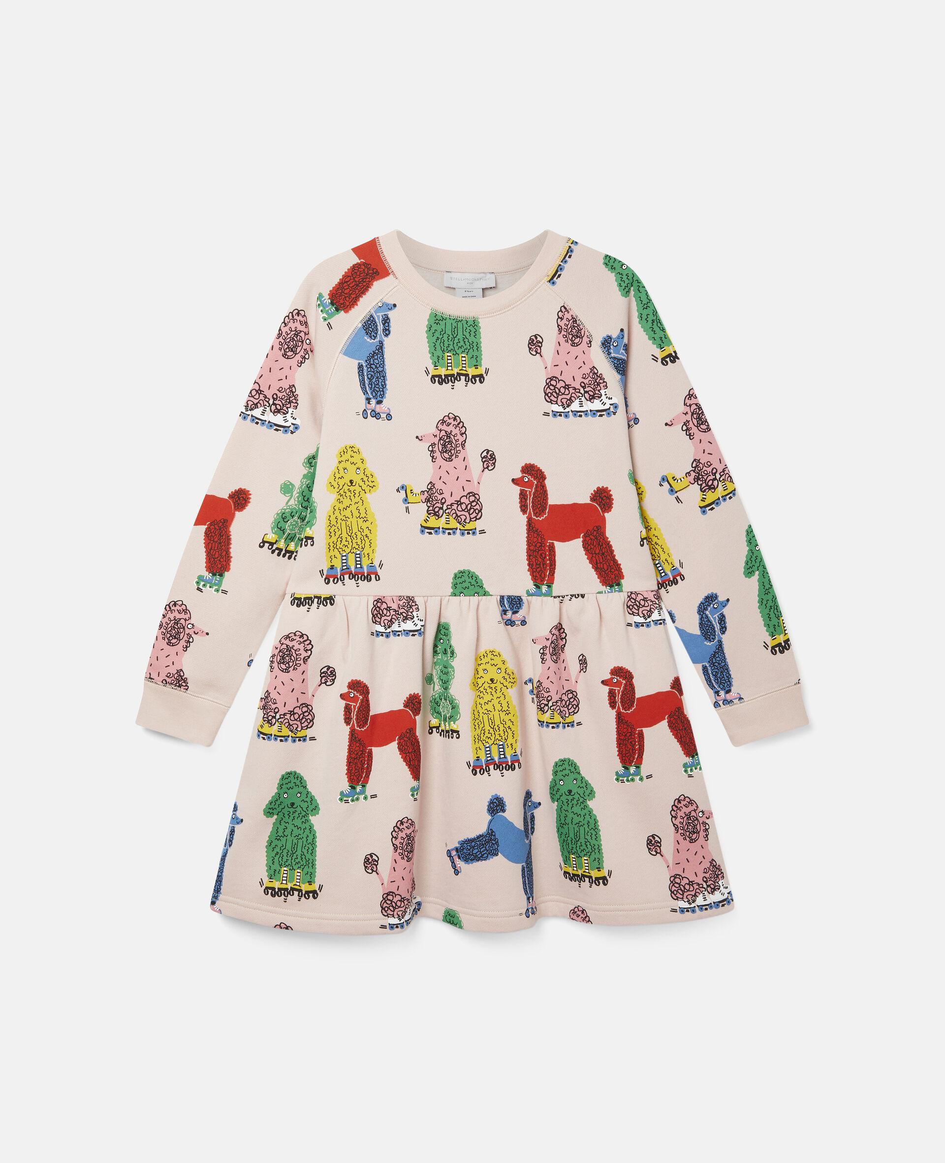 Doodle Poodles Fleece Dress -Pink-large image number 0