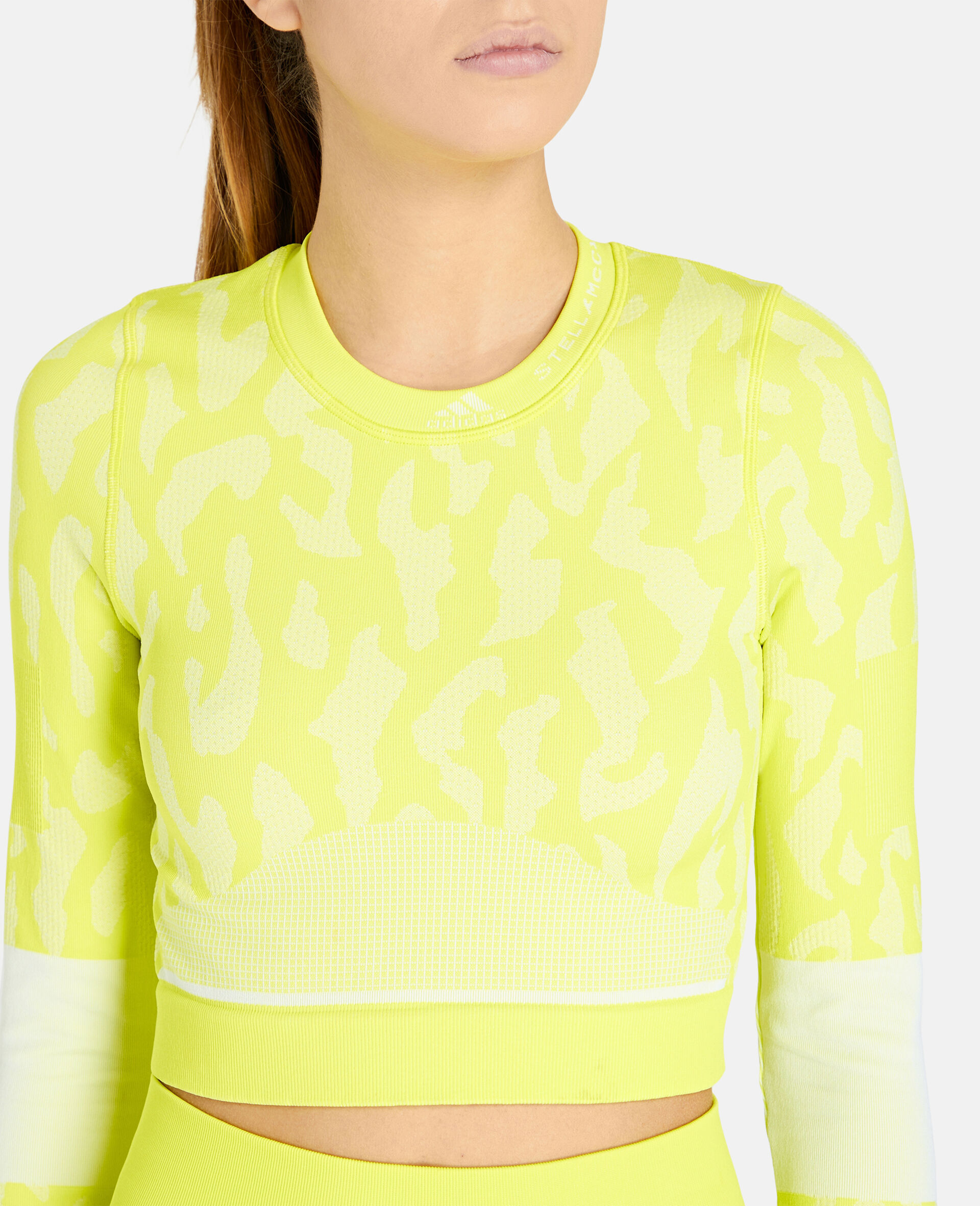 TruePurpose Seamless Training Crop Top -Yellow-large image number 3