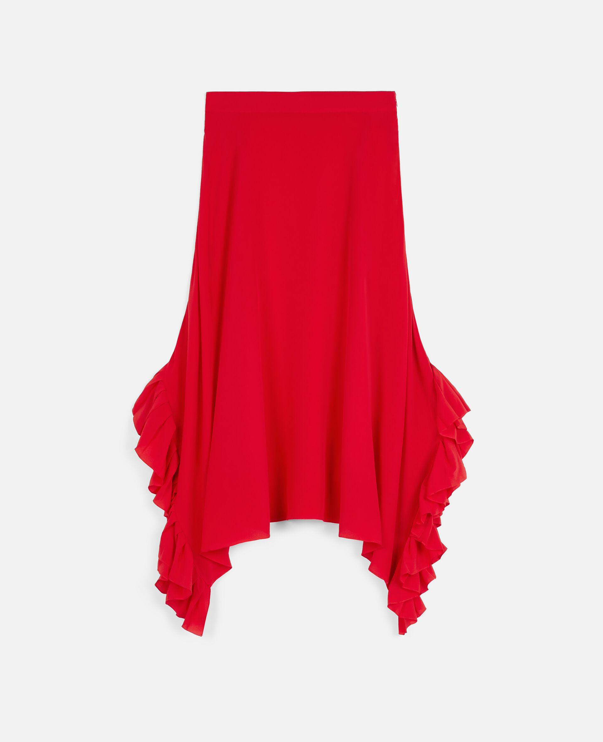 Ashlyn Silk Skirt-Red-large image number 0