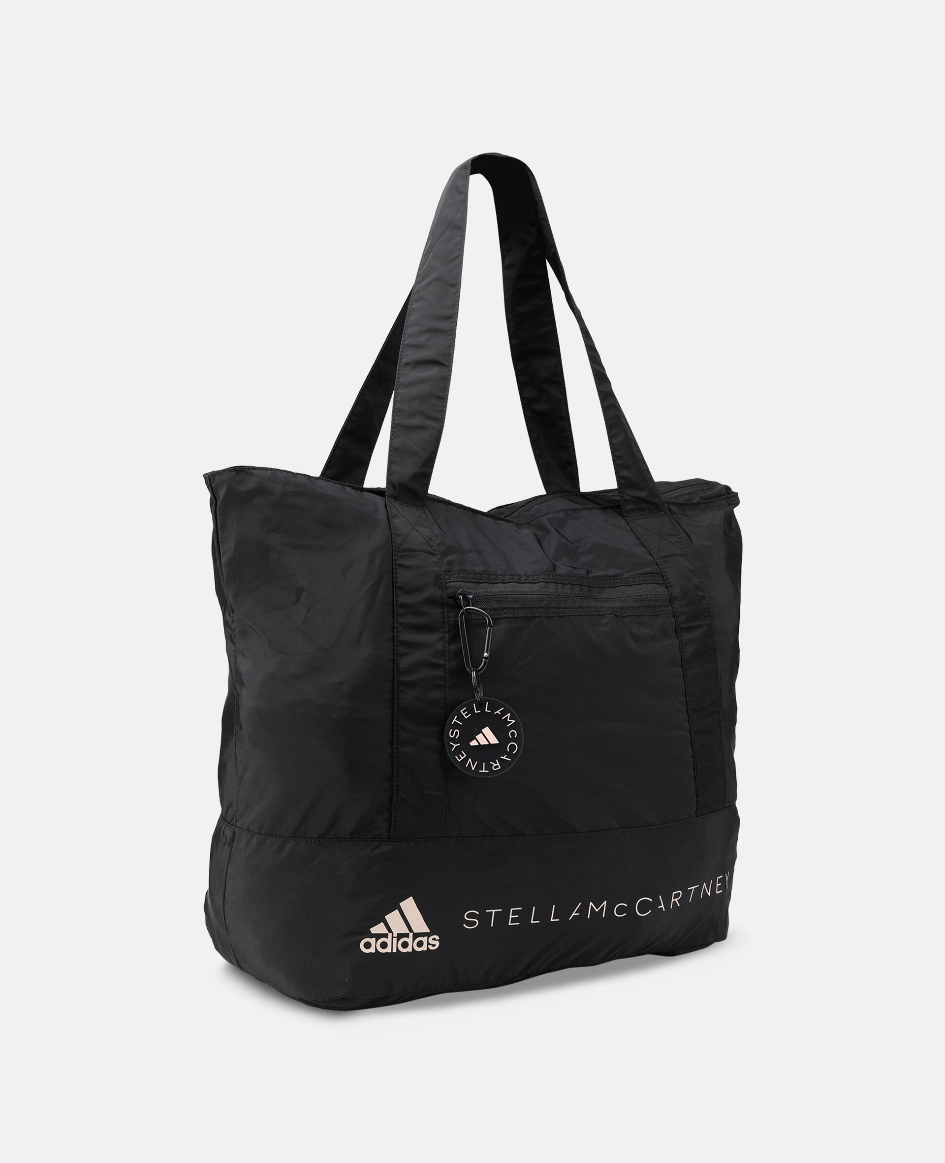 Black Printed Tote Bag -Black-large image number 1