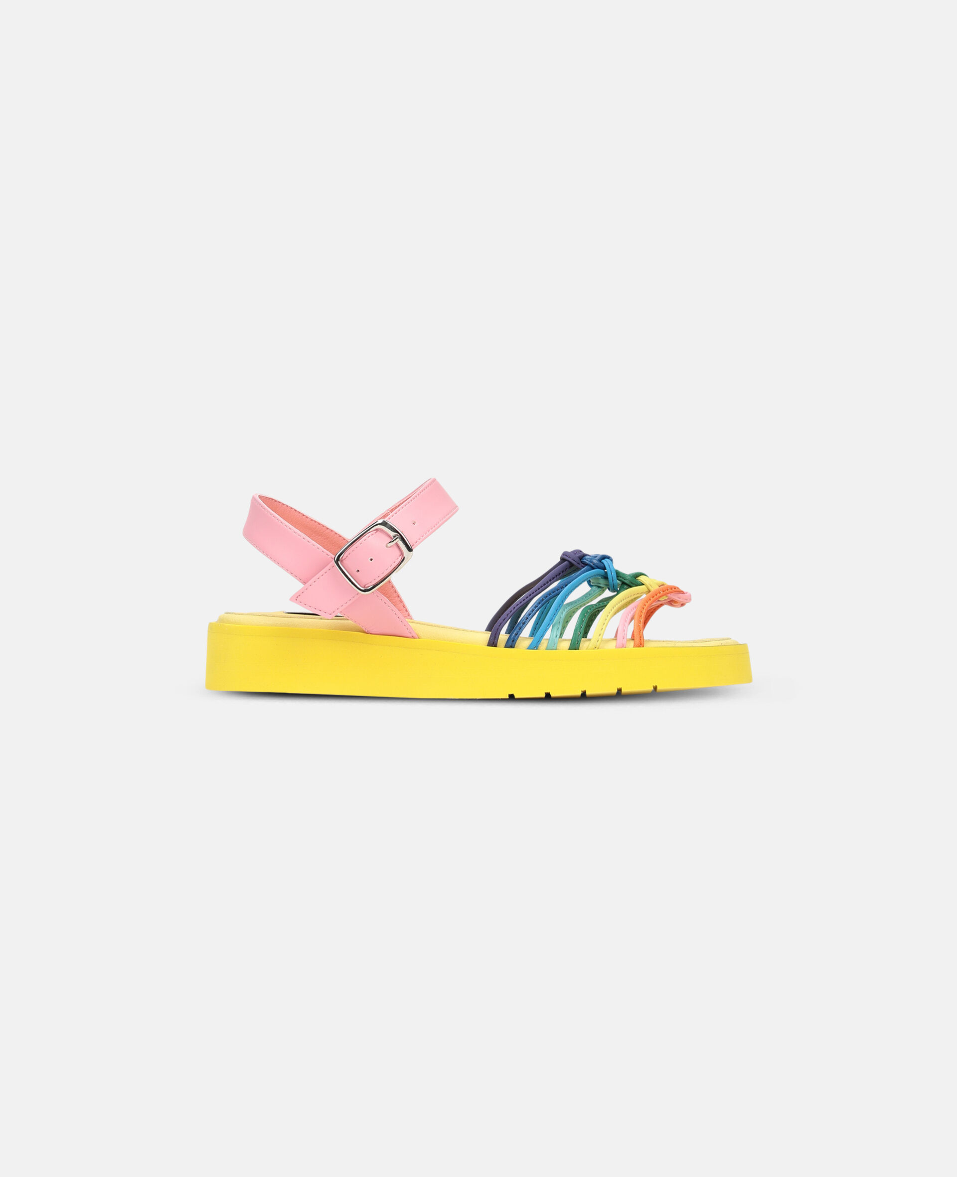 Multicolour Knotted Sandals -Multicolour-large image number 0