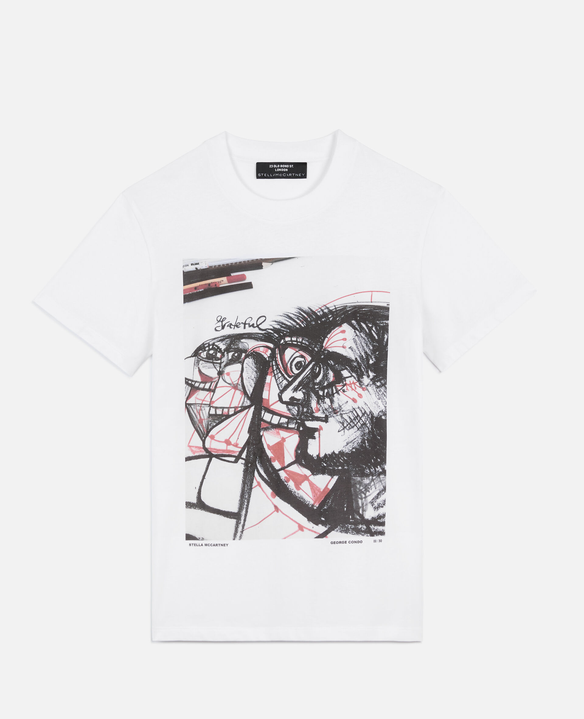 """George Condo """"G"""" T-shirt-White-large image number 0"""