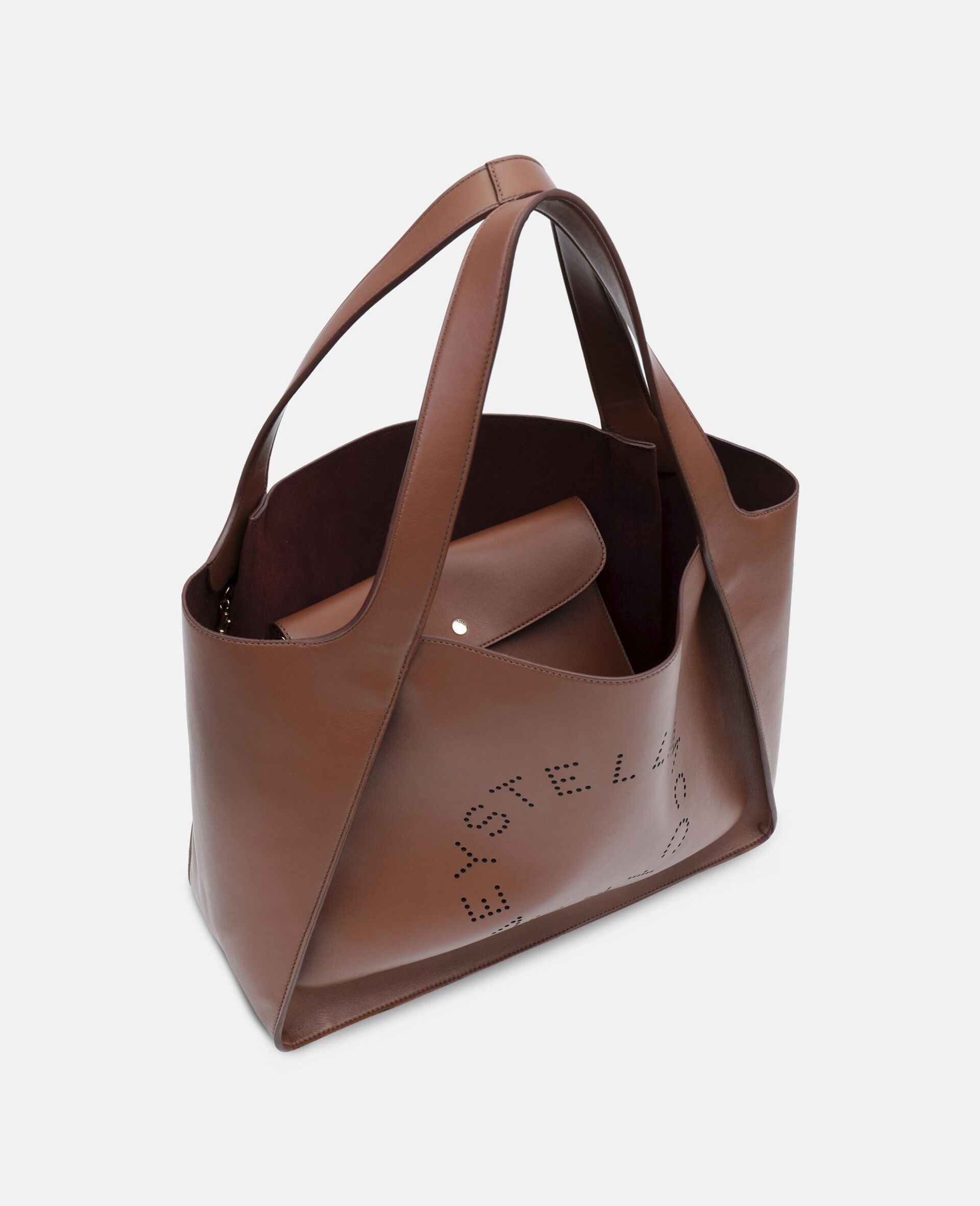 Stella Logo Tote Bag-Brown-large image number 2