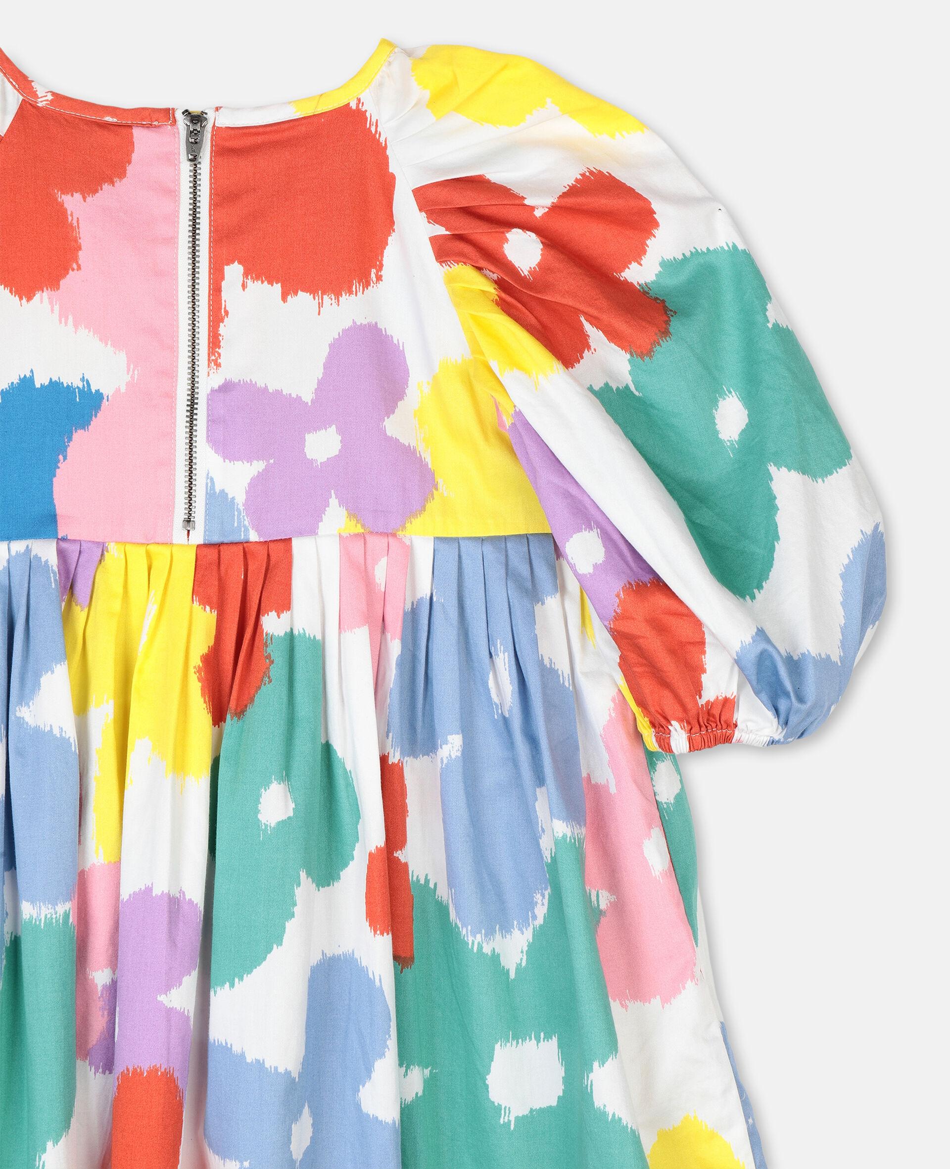 Flowers Cotton Dress-Multicolour-large image number 2