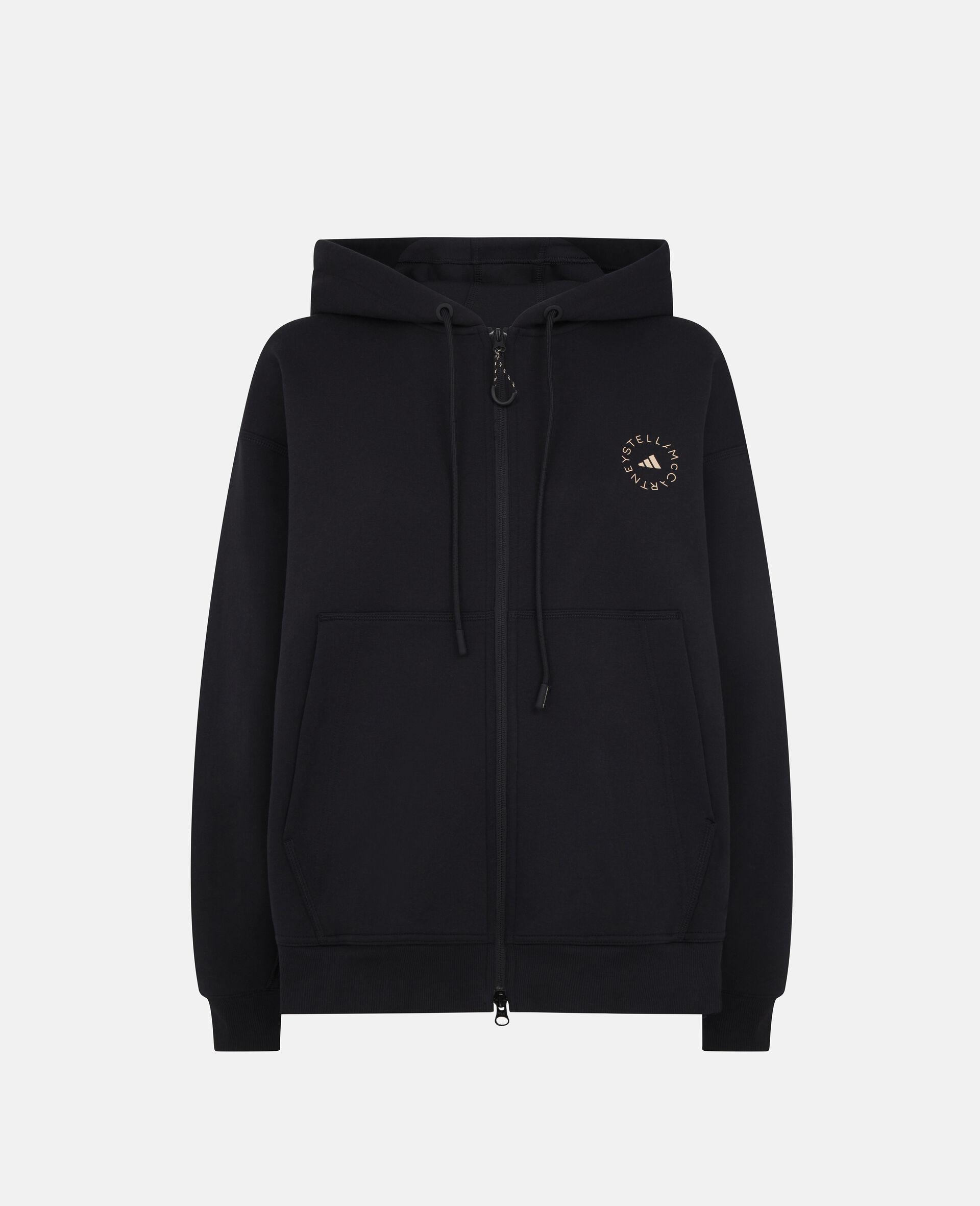 Black Full Zip Hoodie-Black-large image number 0