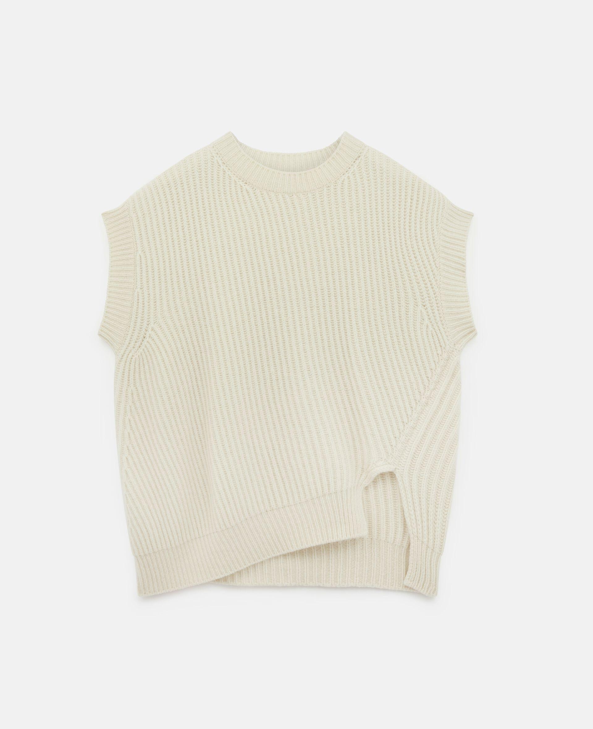 柔软无袖针织衫-米色-large image number 0