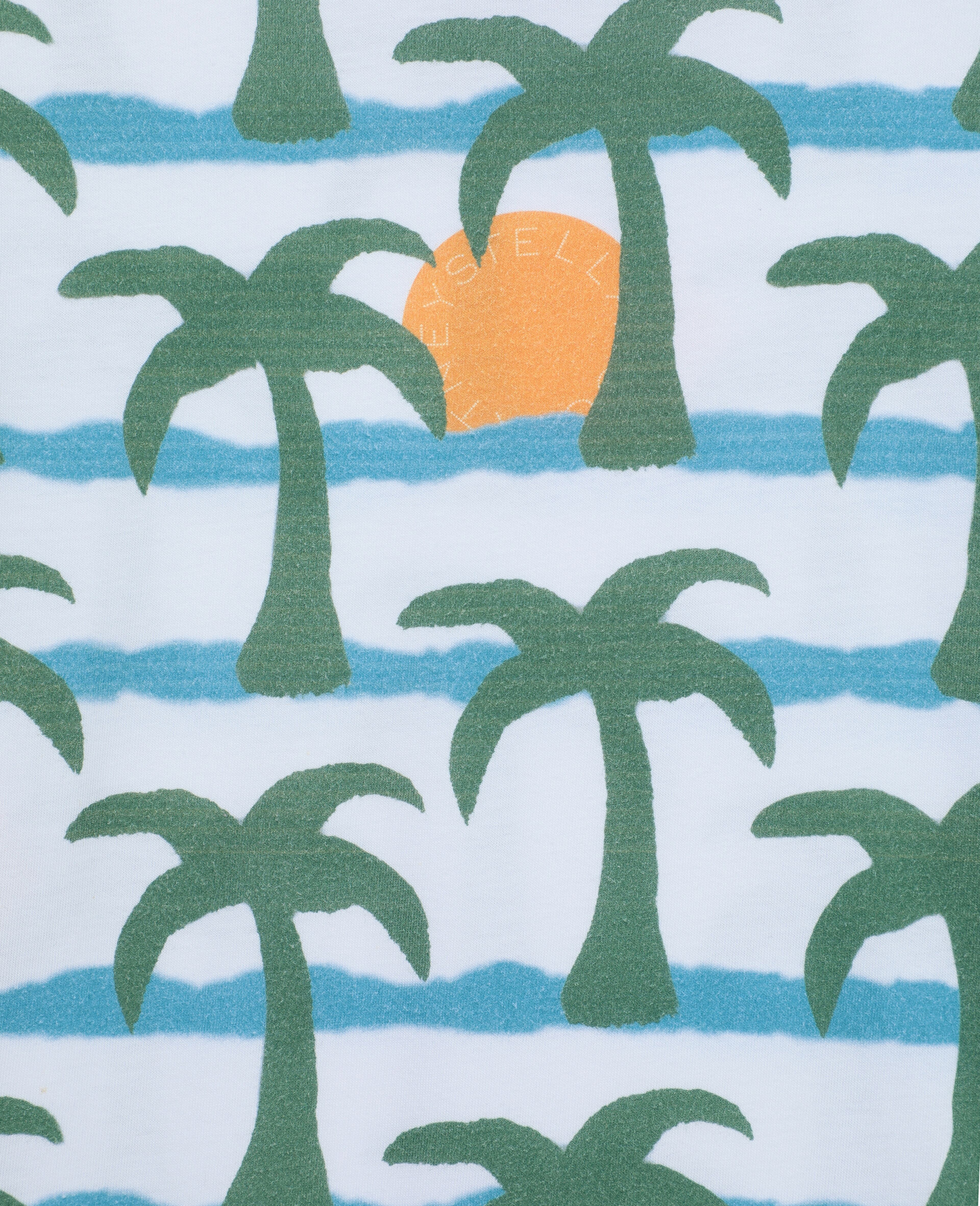 Oversize Palm Cotton T-shirt -Multicolour-large image number 1