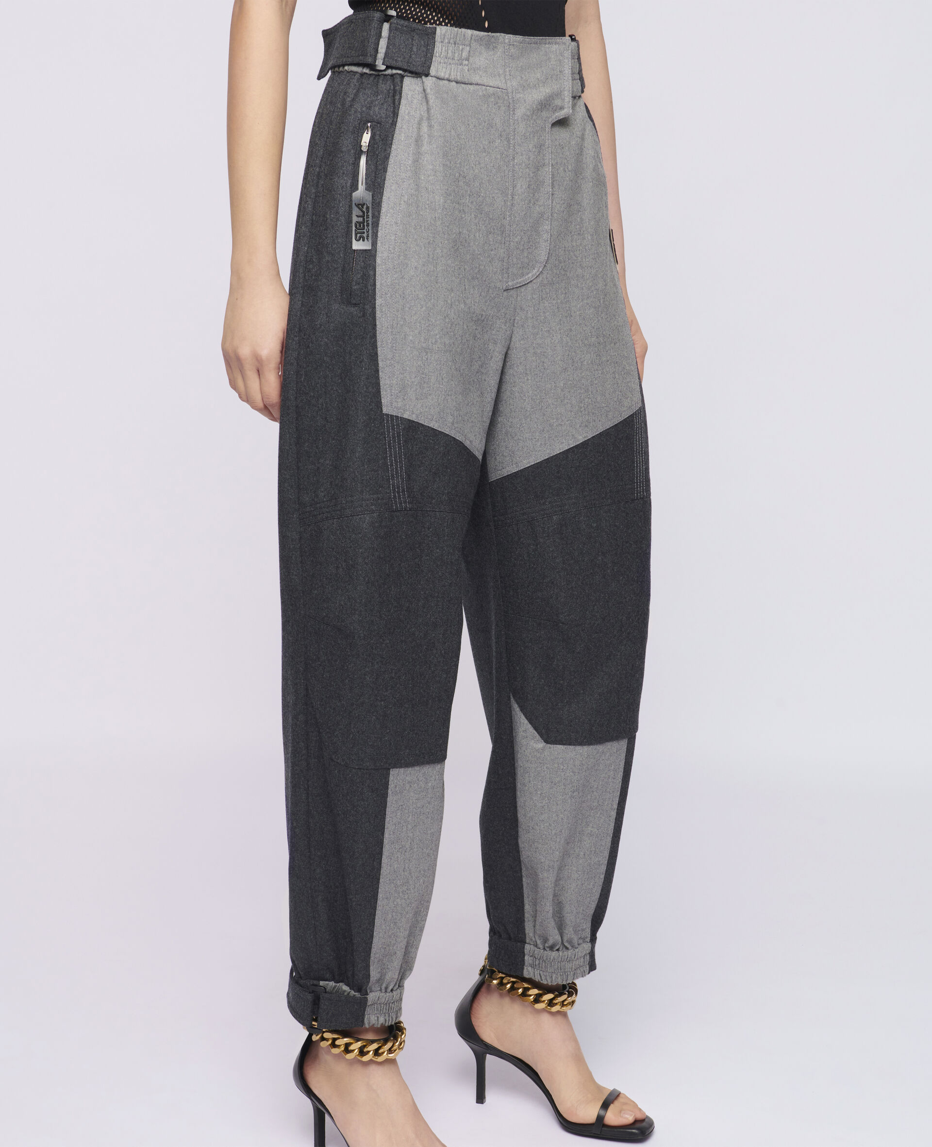 Pantaloni Lacey in Lana-Beige-large image number 3