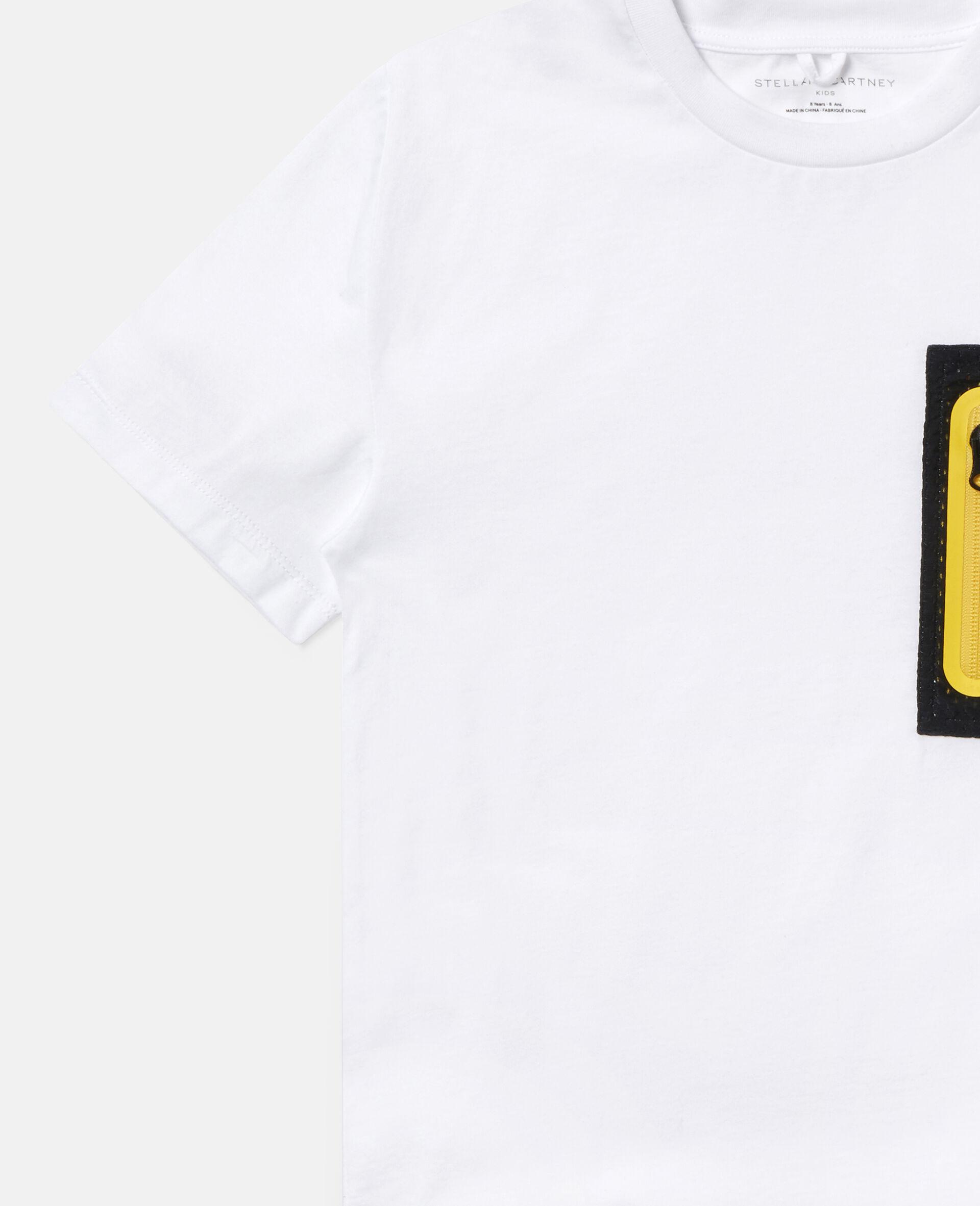 Übergroßes Sport-T-Shirt aus Baumwolle-Weiß-large image number 2