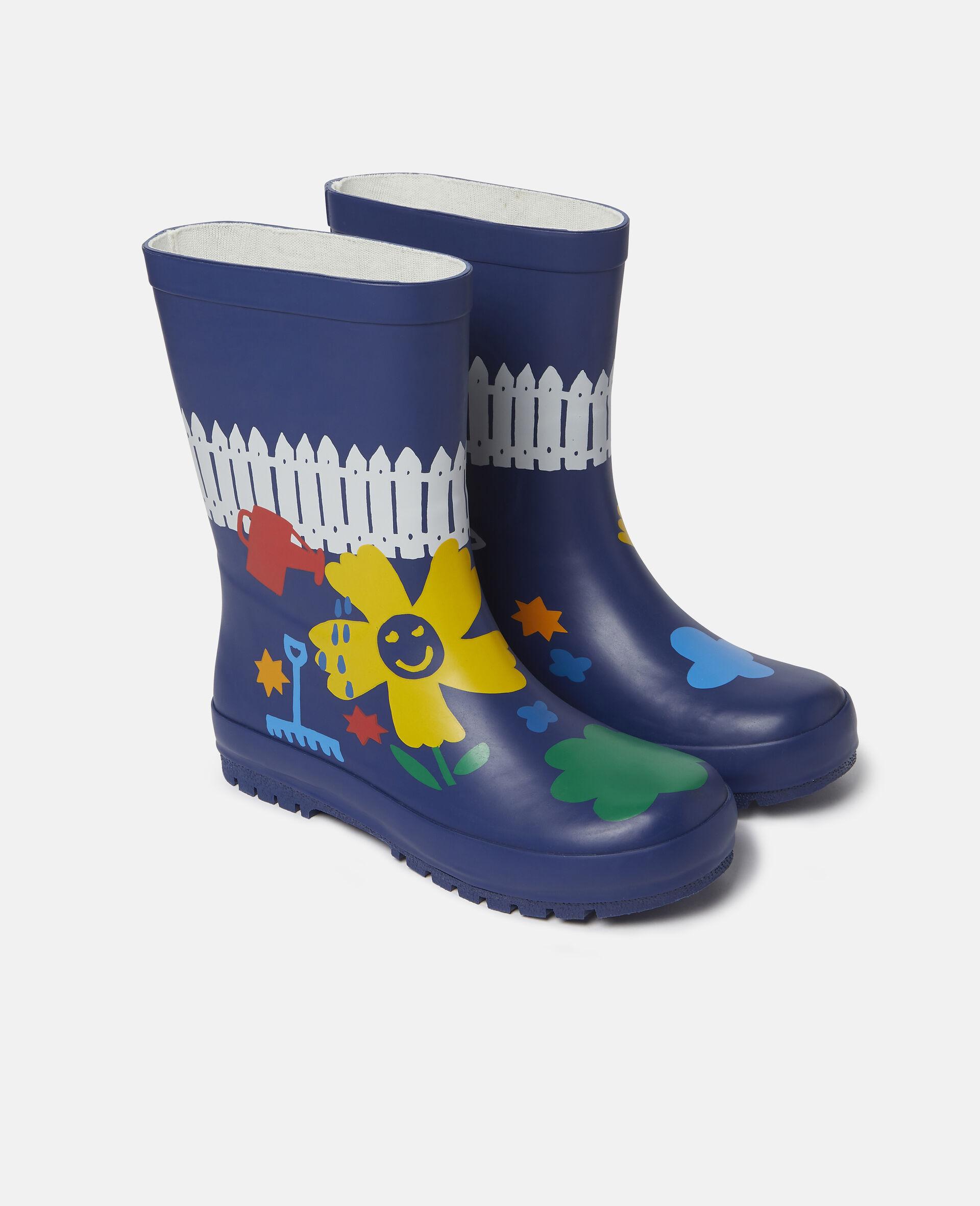Gardening Waterproof Rainboots-Blue-large image number 3