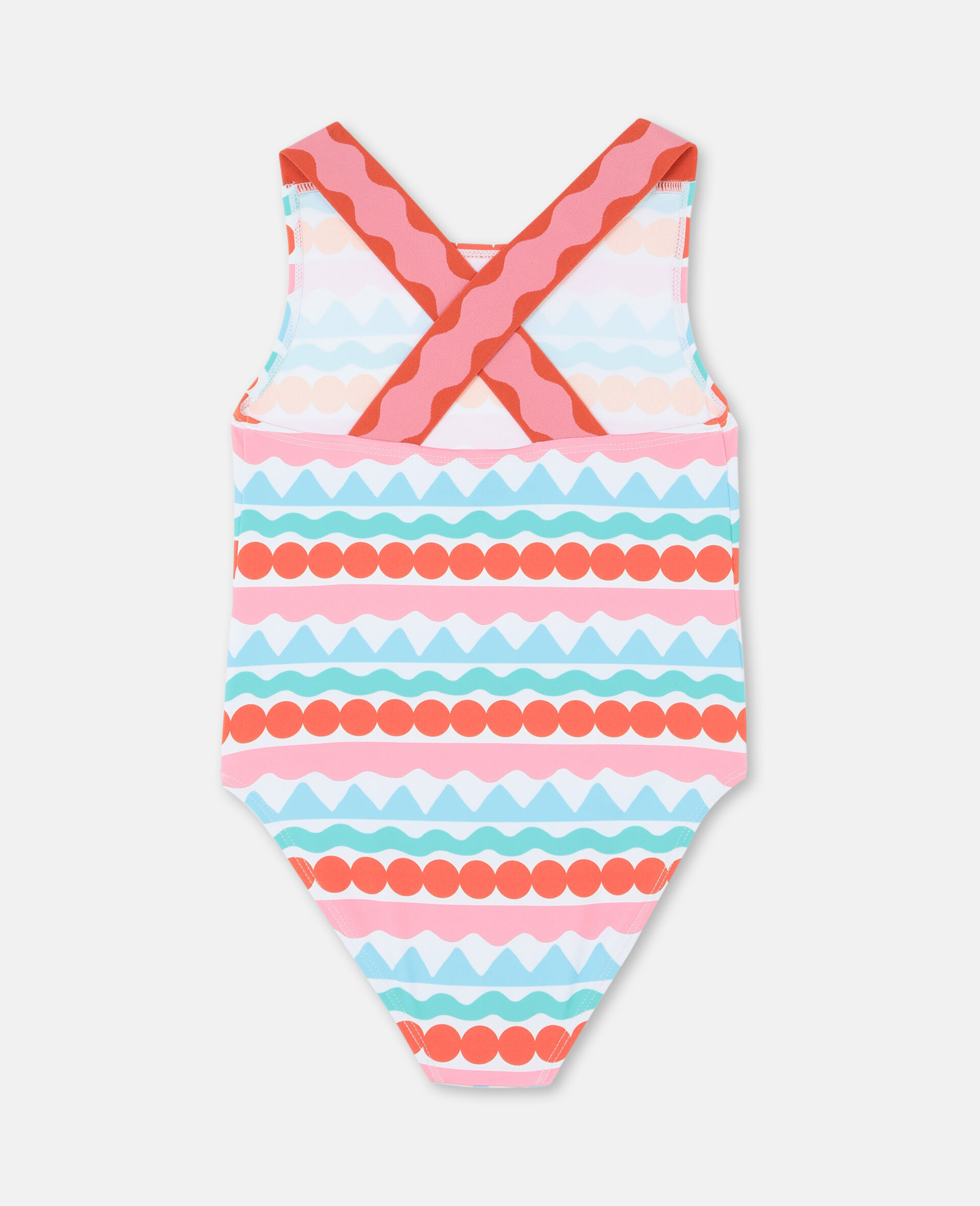 Graphic Stripes Swimsuit-Multicolour-large image number 4