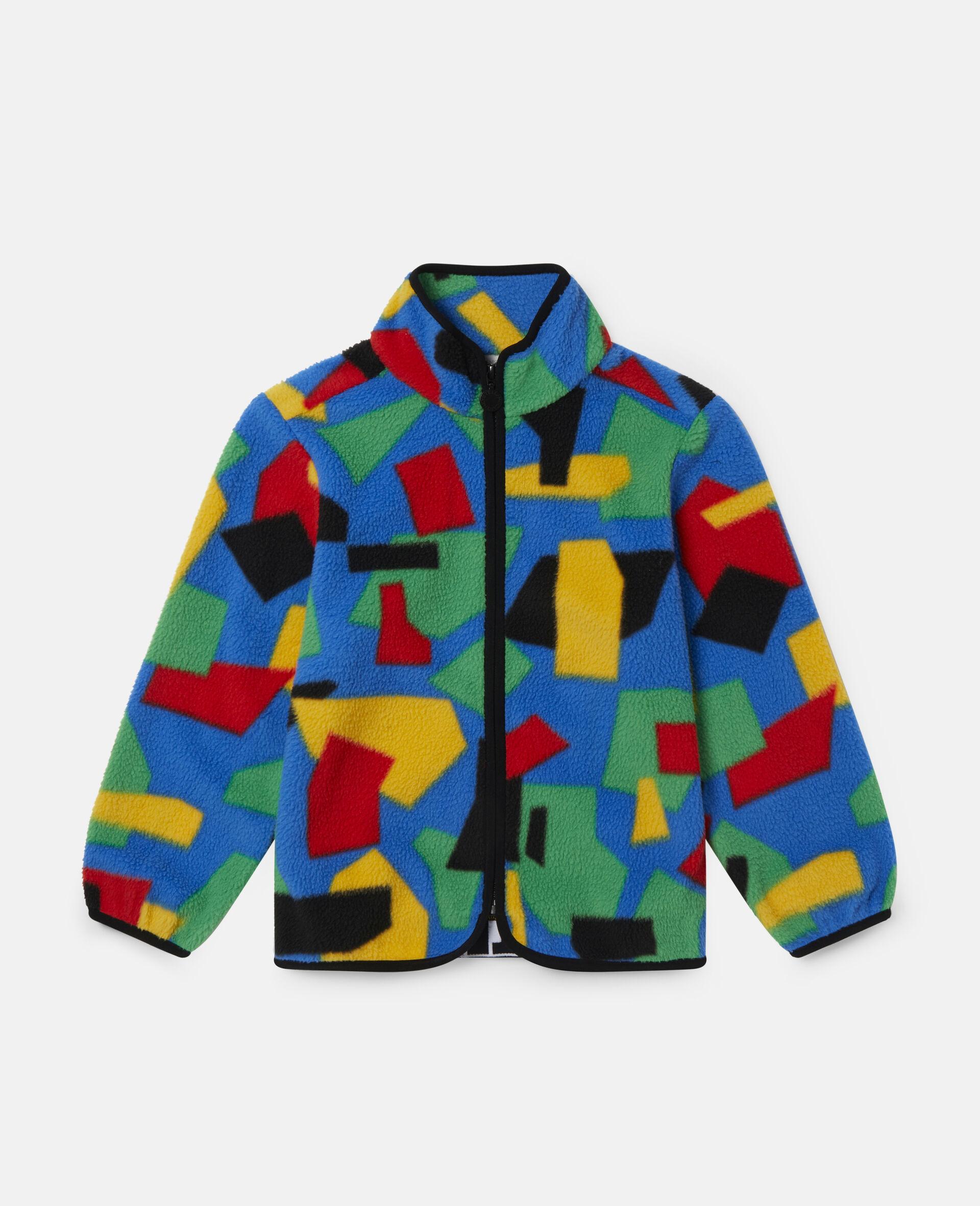 Colourblock Polar Fleece Ski Cardigan-Multicolour-large image number 0