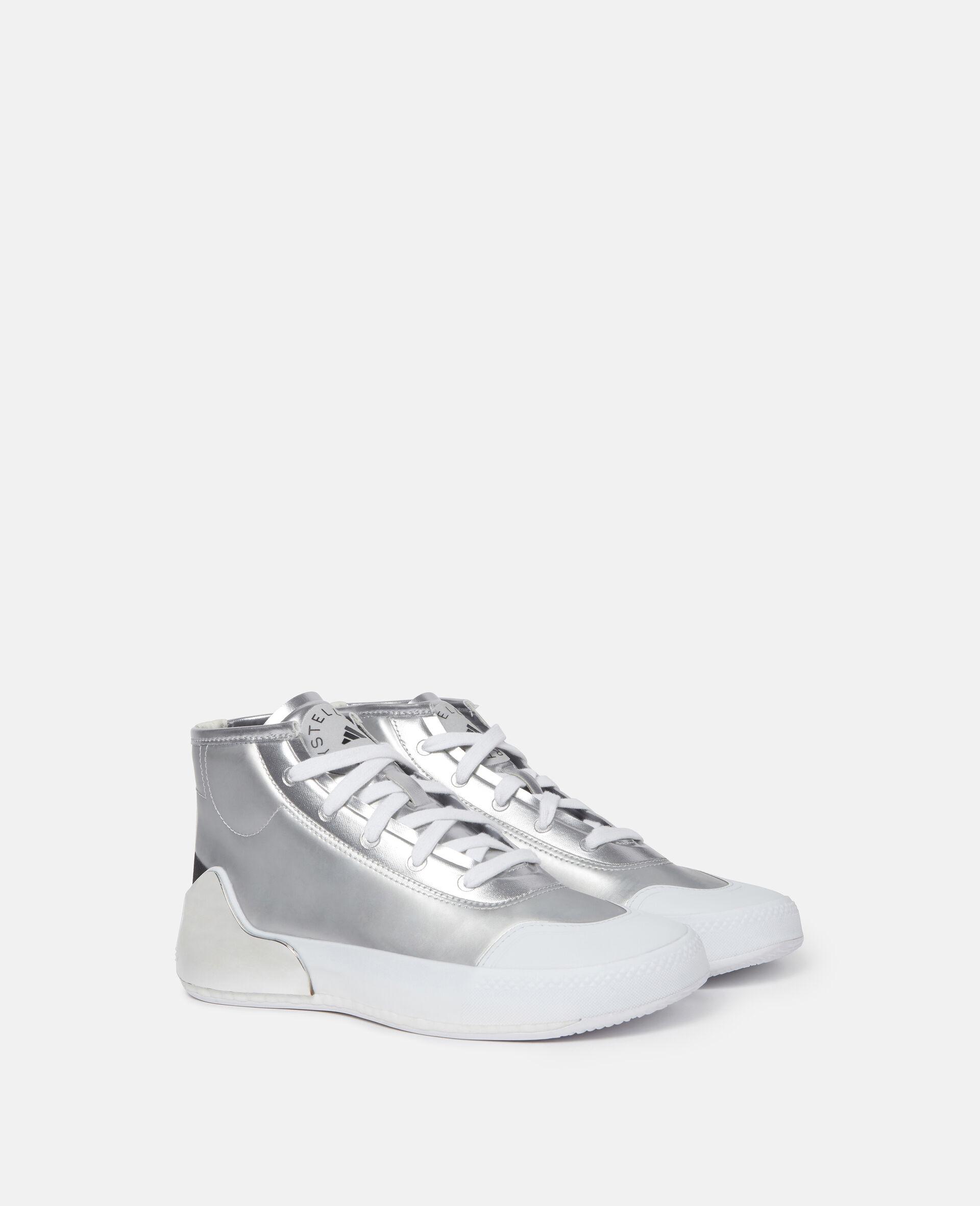 Metallic Treino Running Sneakers-Grey-large image number 1