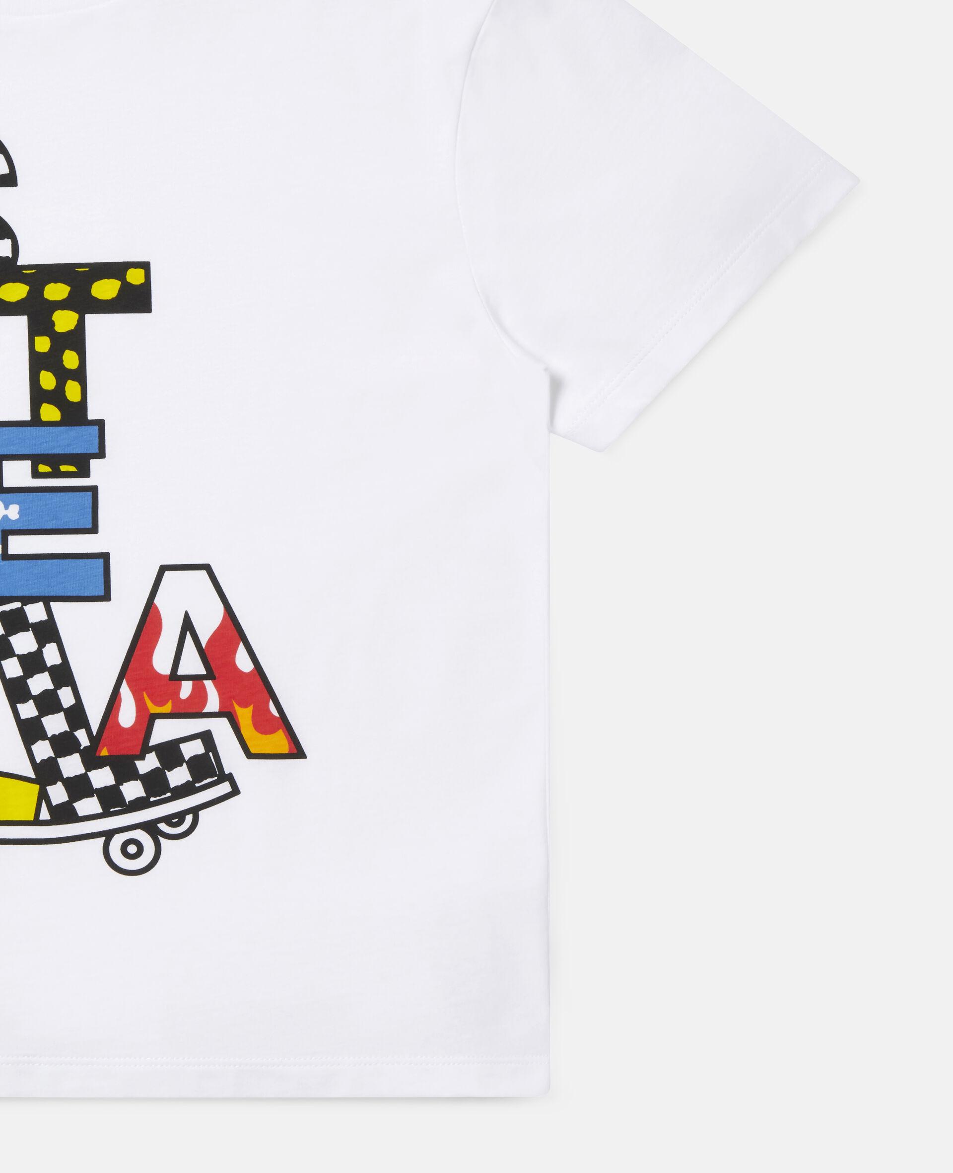 Stella滑板印花超大号棉质T恤 -白色-large image number 1