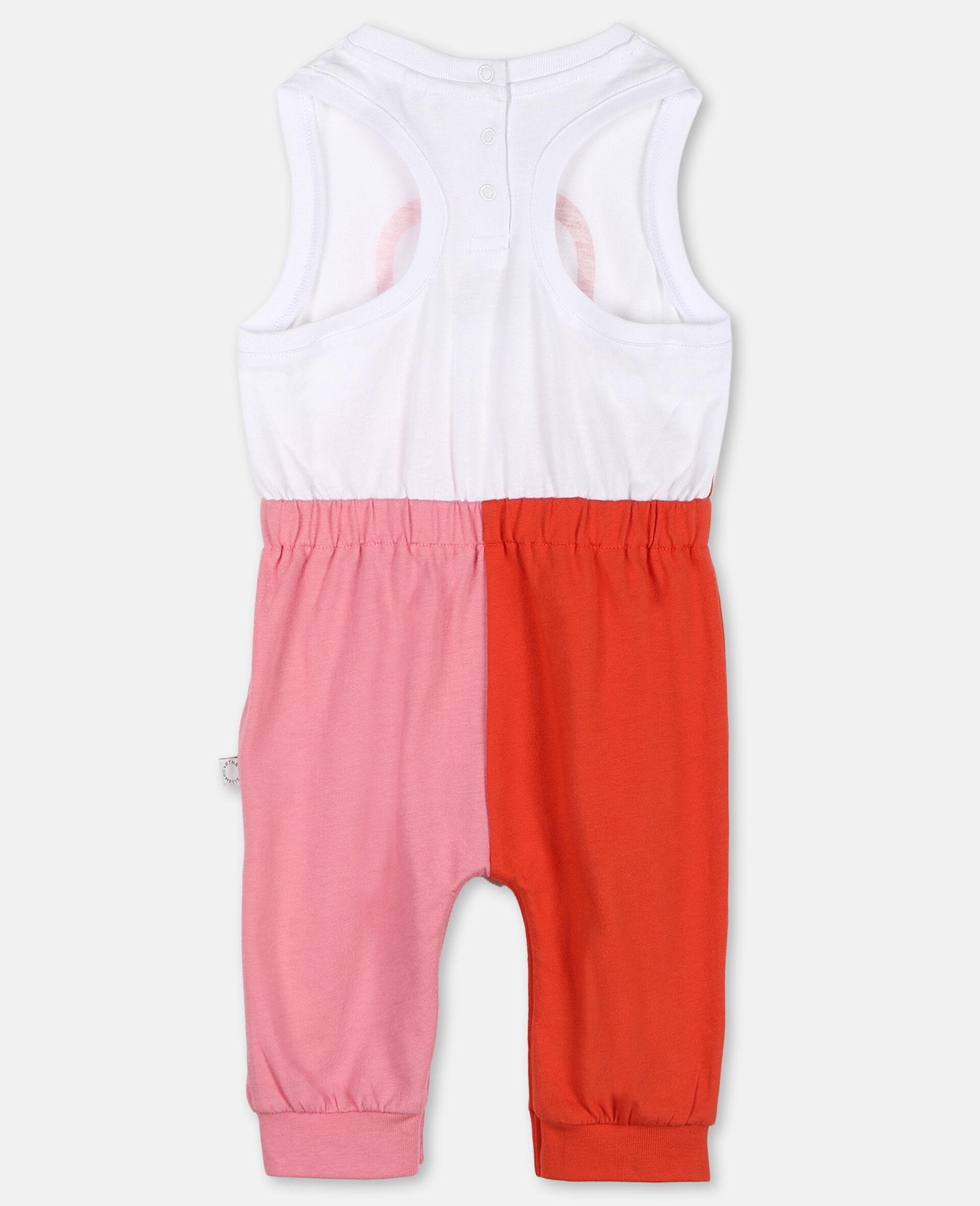 Overall aus Baumwolle mit Flamingo-Weiß-large image number 3