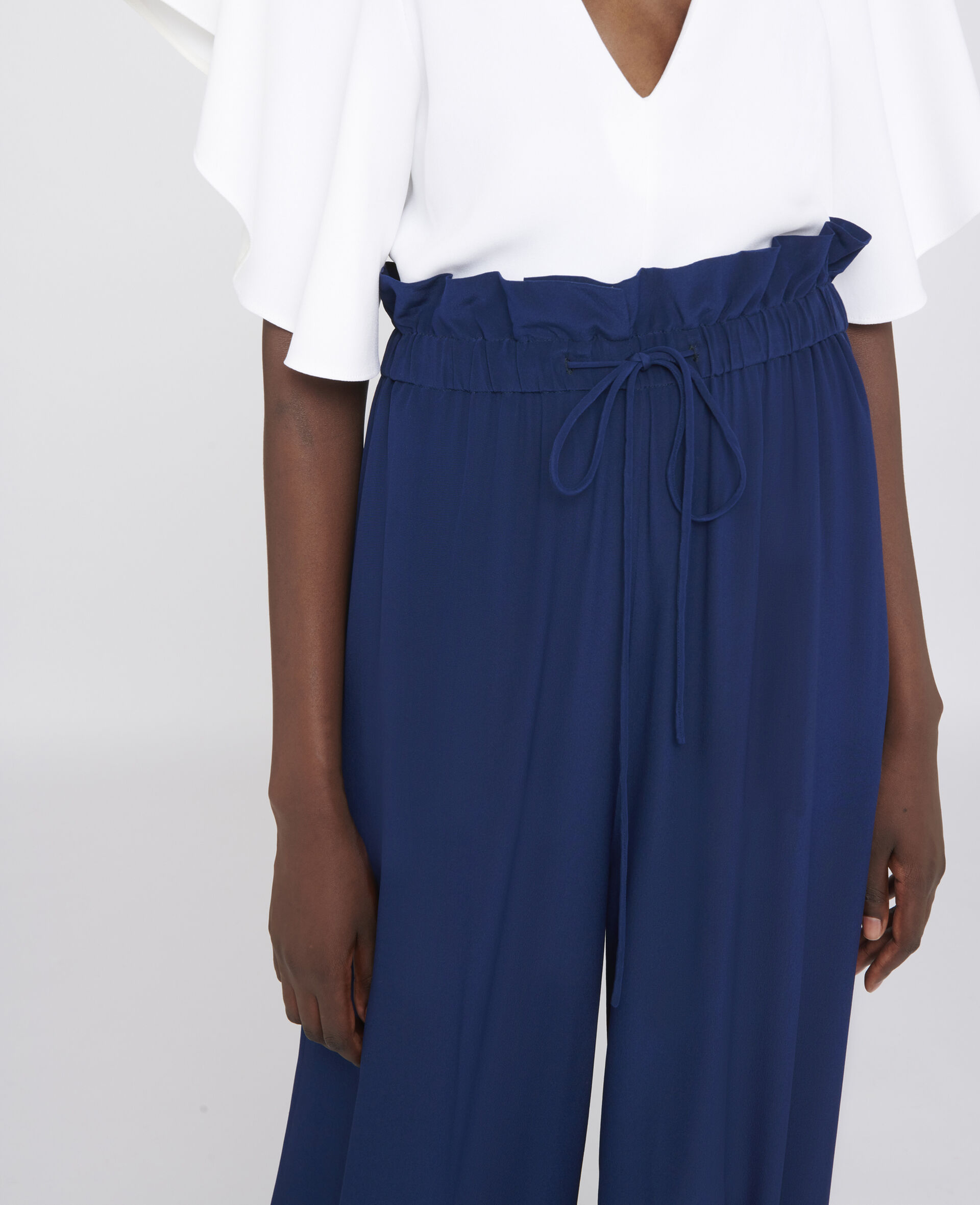 Lauryn Silk Trousers-Blue-large image number 3
