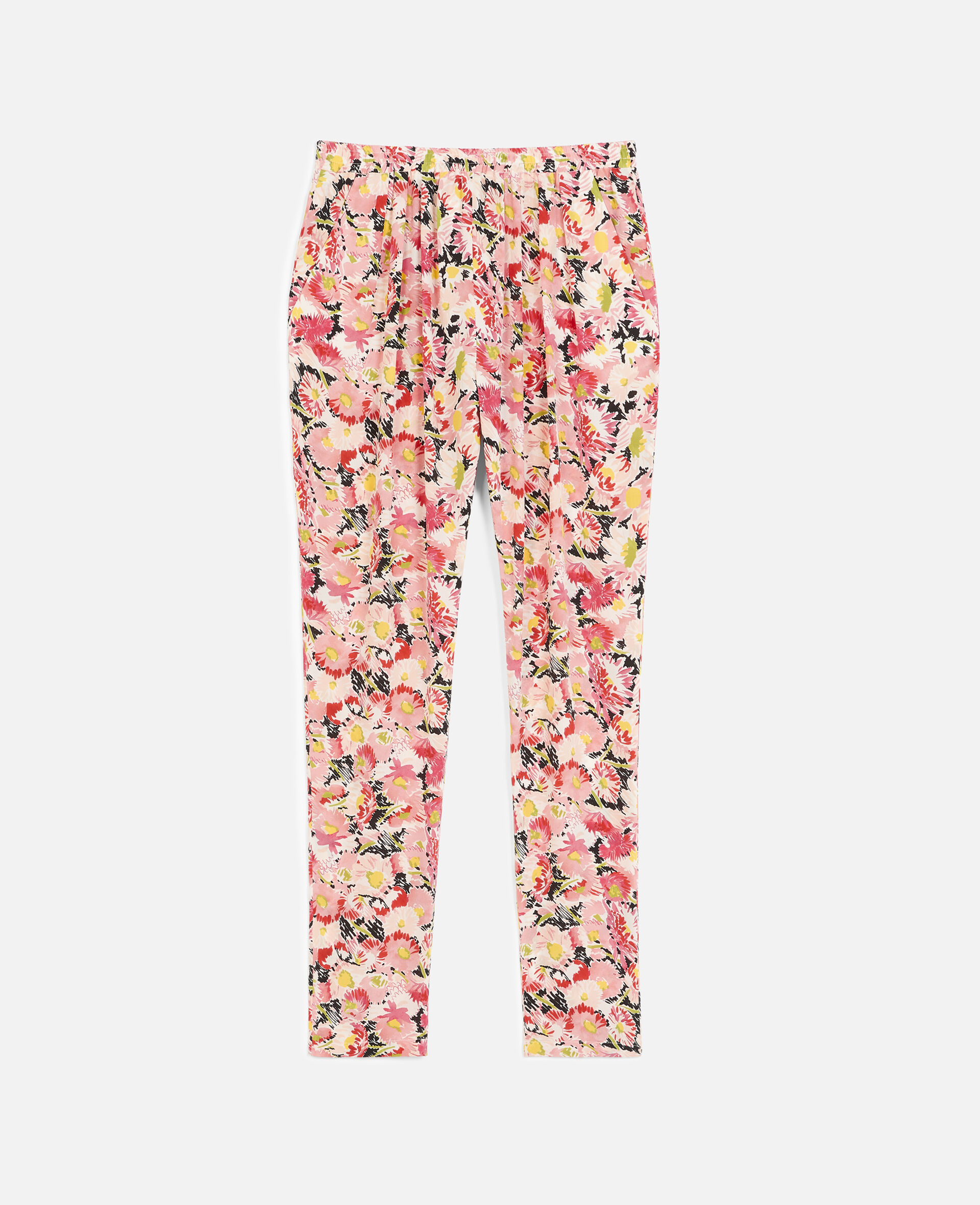 Christine Silk Trousers-Multicolour-large image number 0
