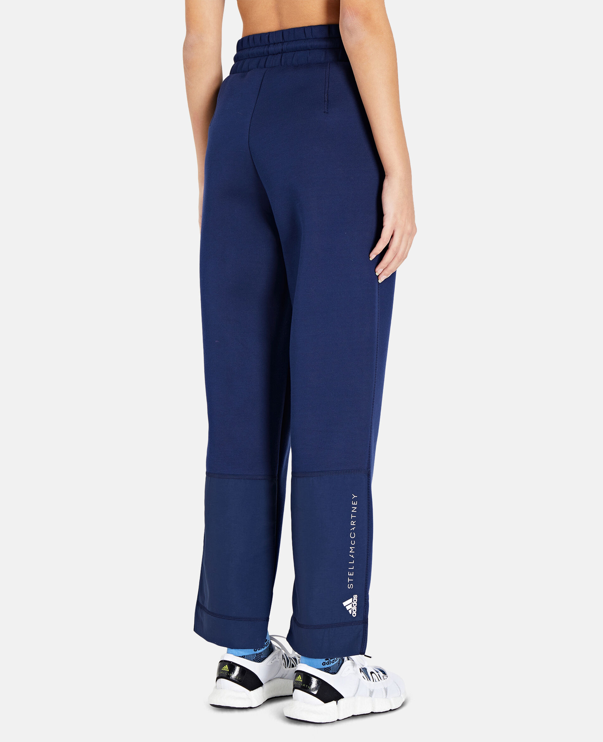 Blue Tapered Sweatpants-Blue-large image number 2