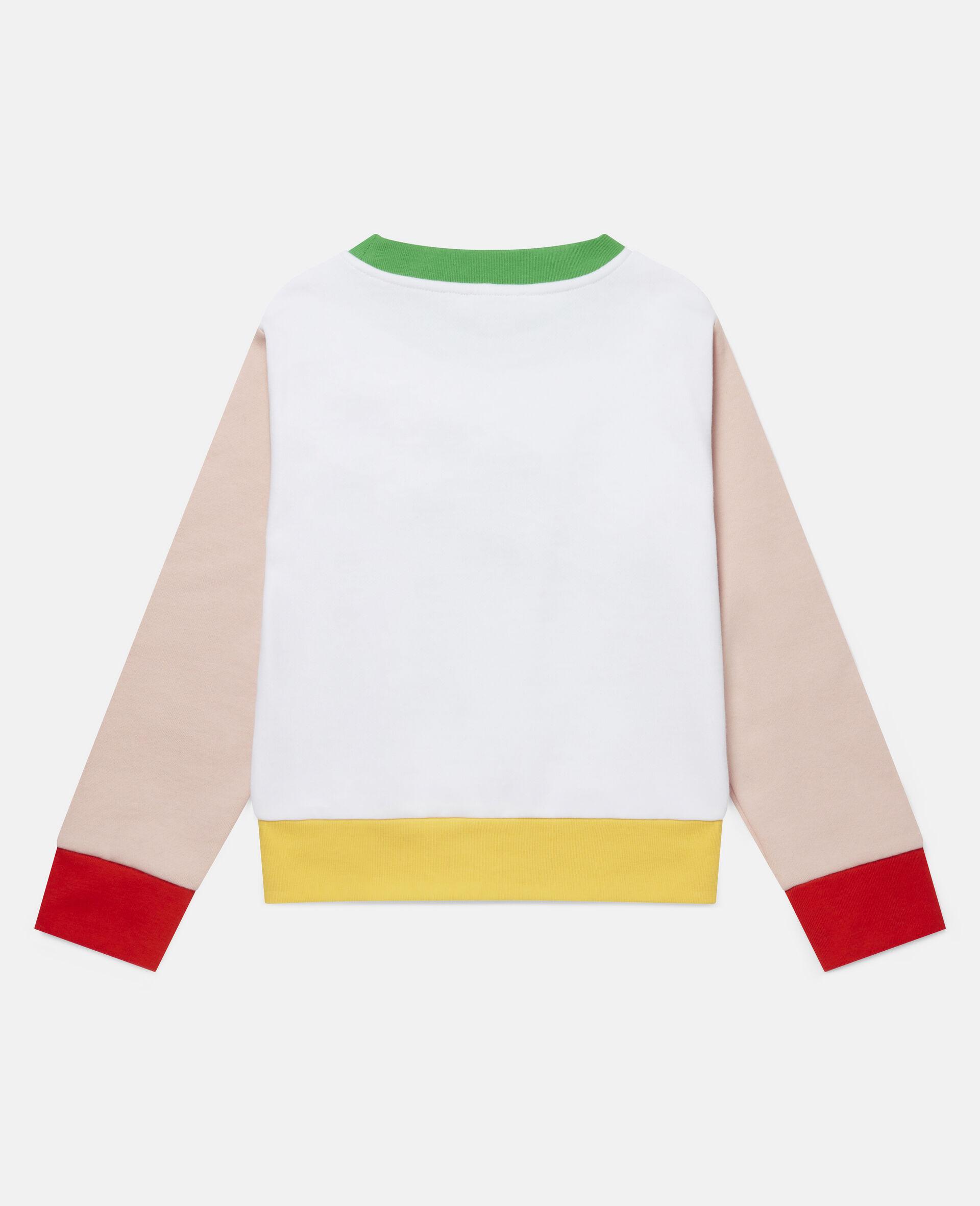 Sweatshirt aus Fleece mit Pudel auf Rollerskates -Weiß-large image number 3