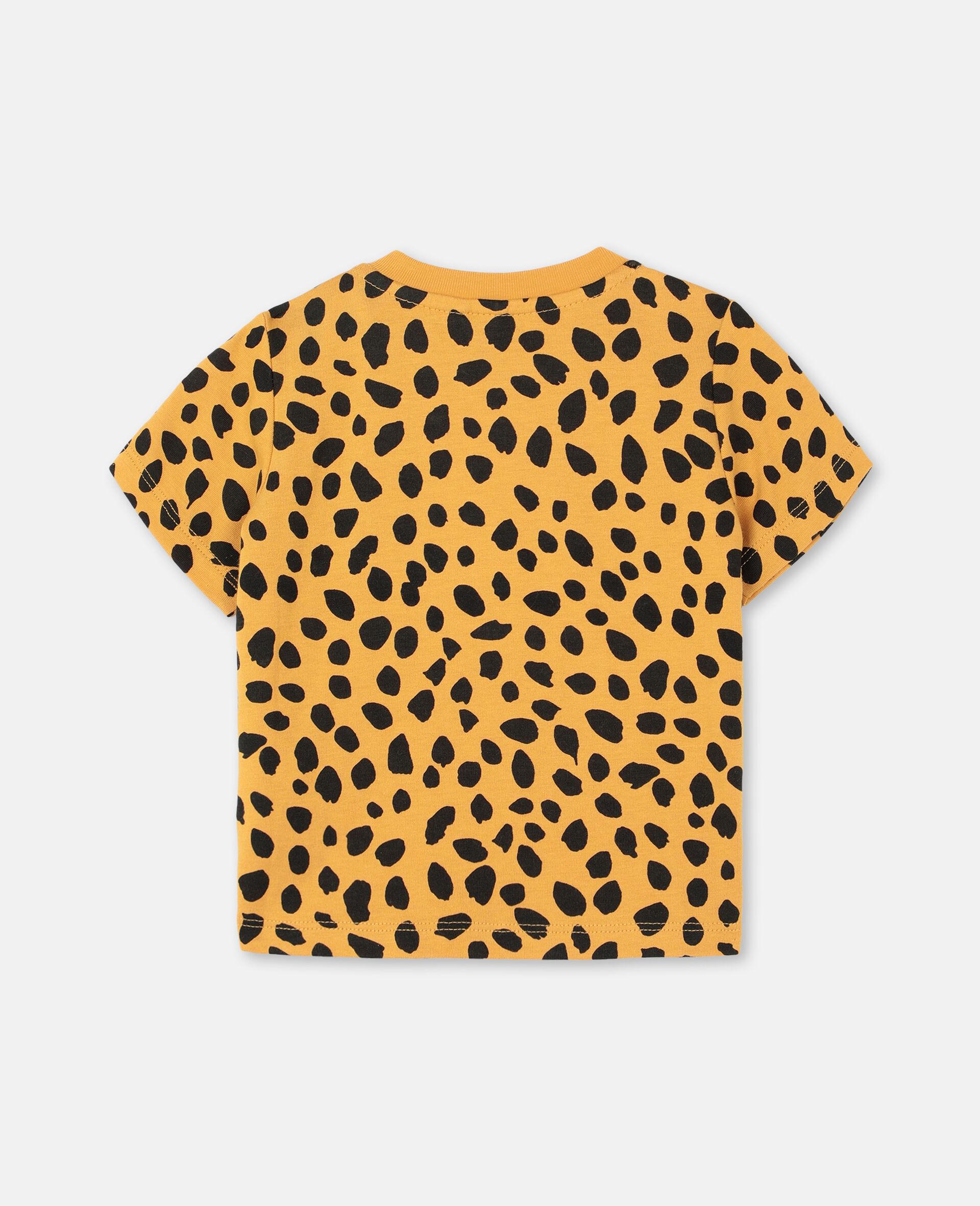 Cheetah Cotton T-shirt -Orange-large image number 3