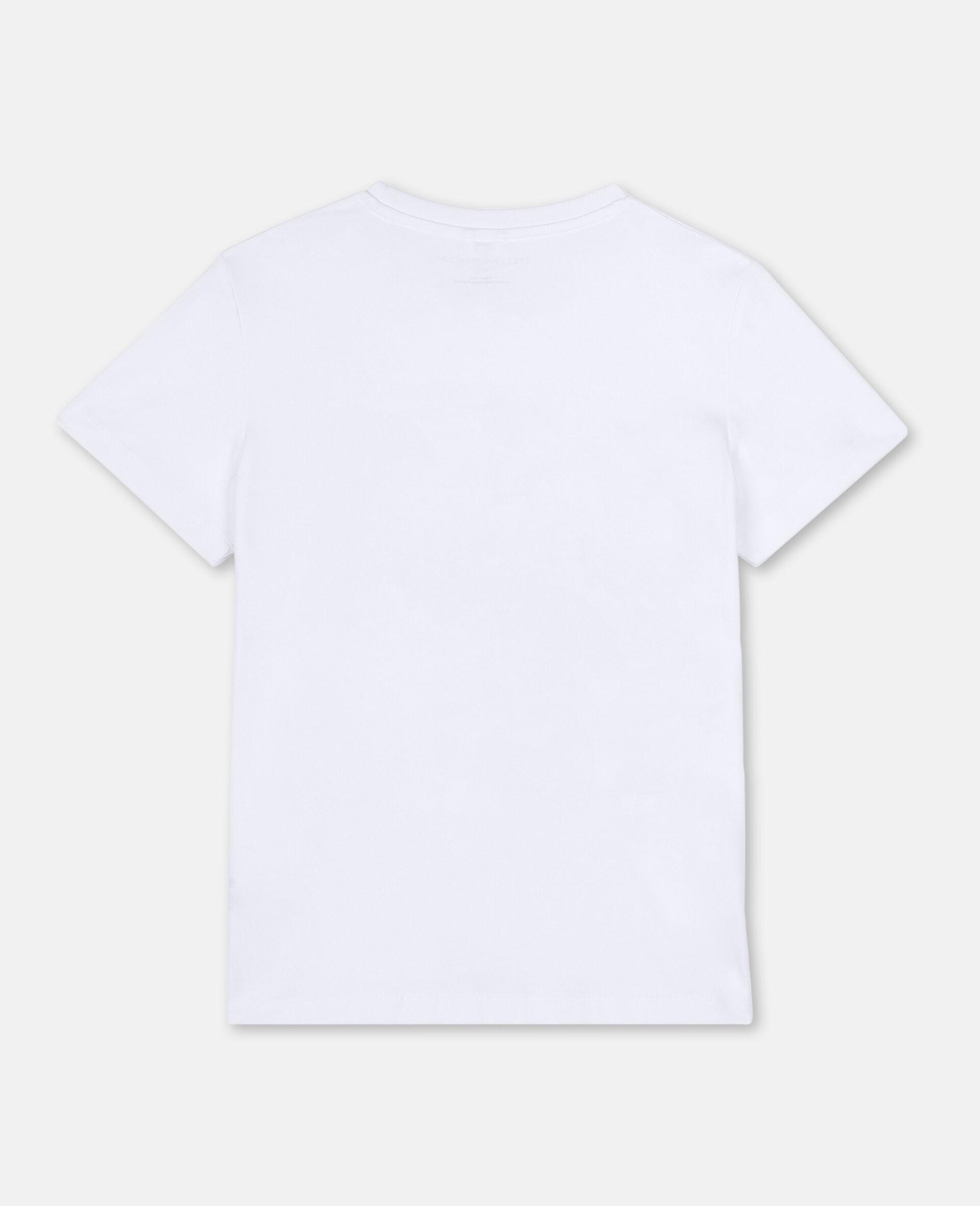 T-shirt en coton à motif jumelles 3D -Blanc-large image number 3