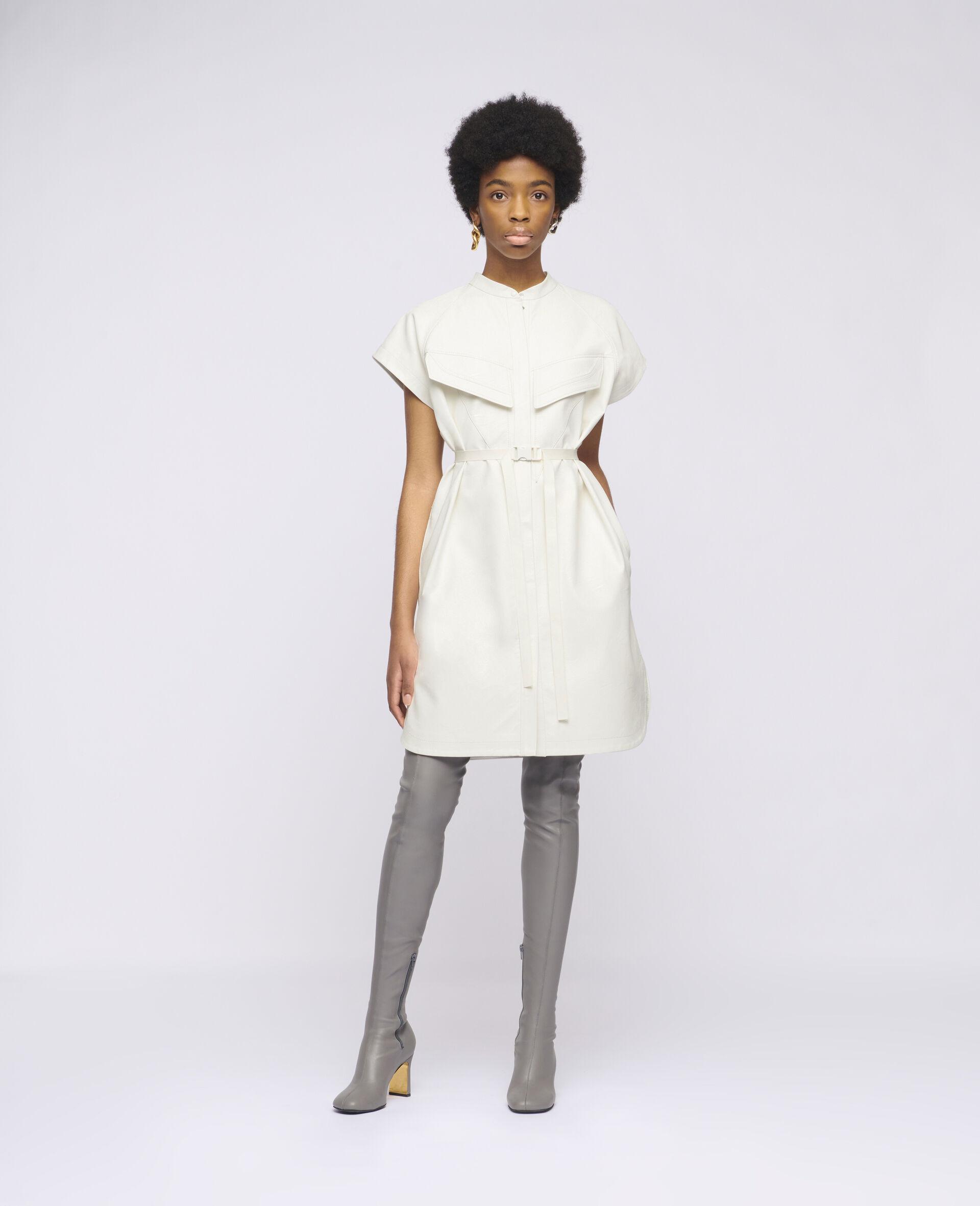 Lexie Midi Dress-White-large image number 1