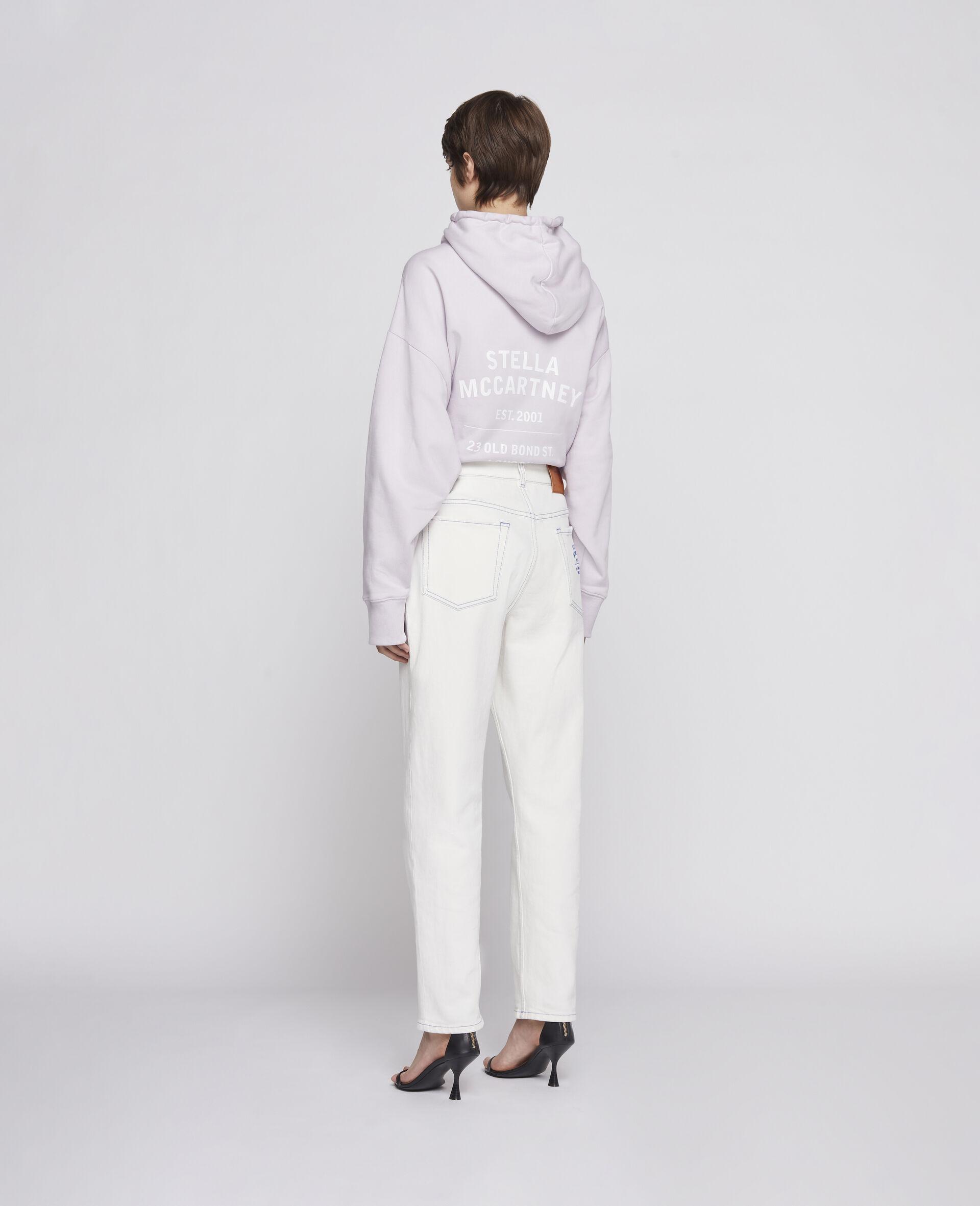 Sweat-shirt à capuche 23 OBS en coton biologique-Marron-large image number 2