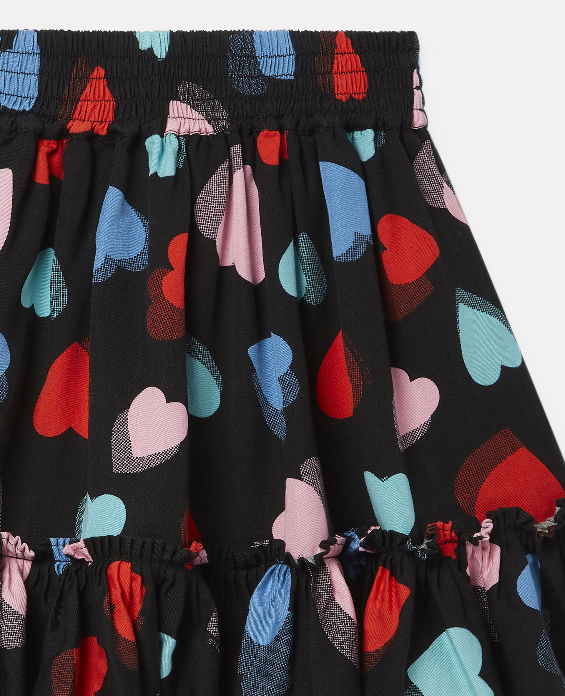 Hearts Tencel Twill Skirt-Multicolour-large image number 1