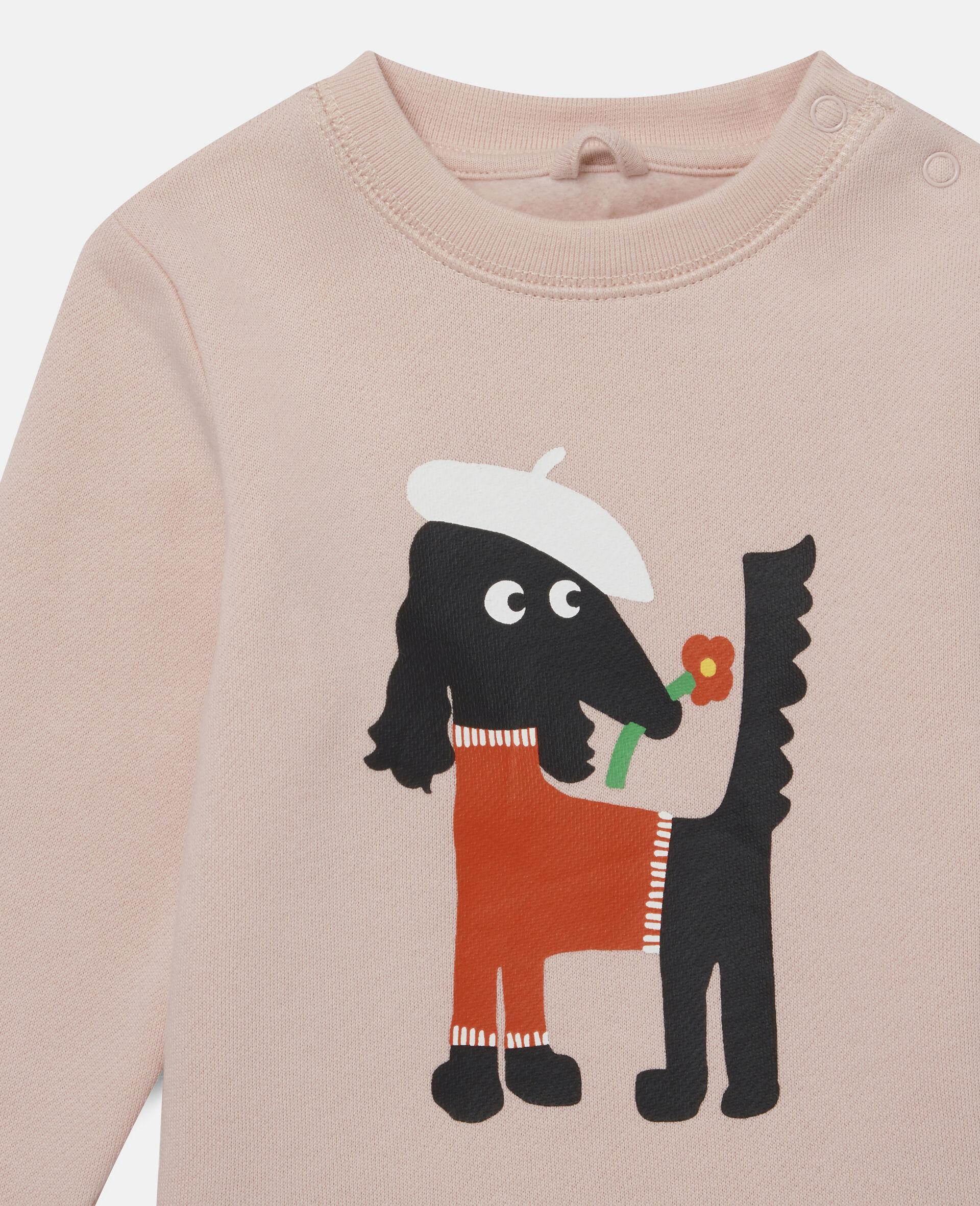 Sissy Dog Fleece Sweatshirt-Pink-large image number 1