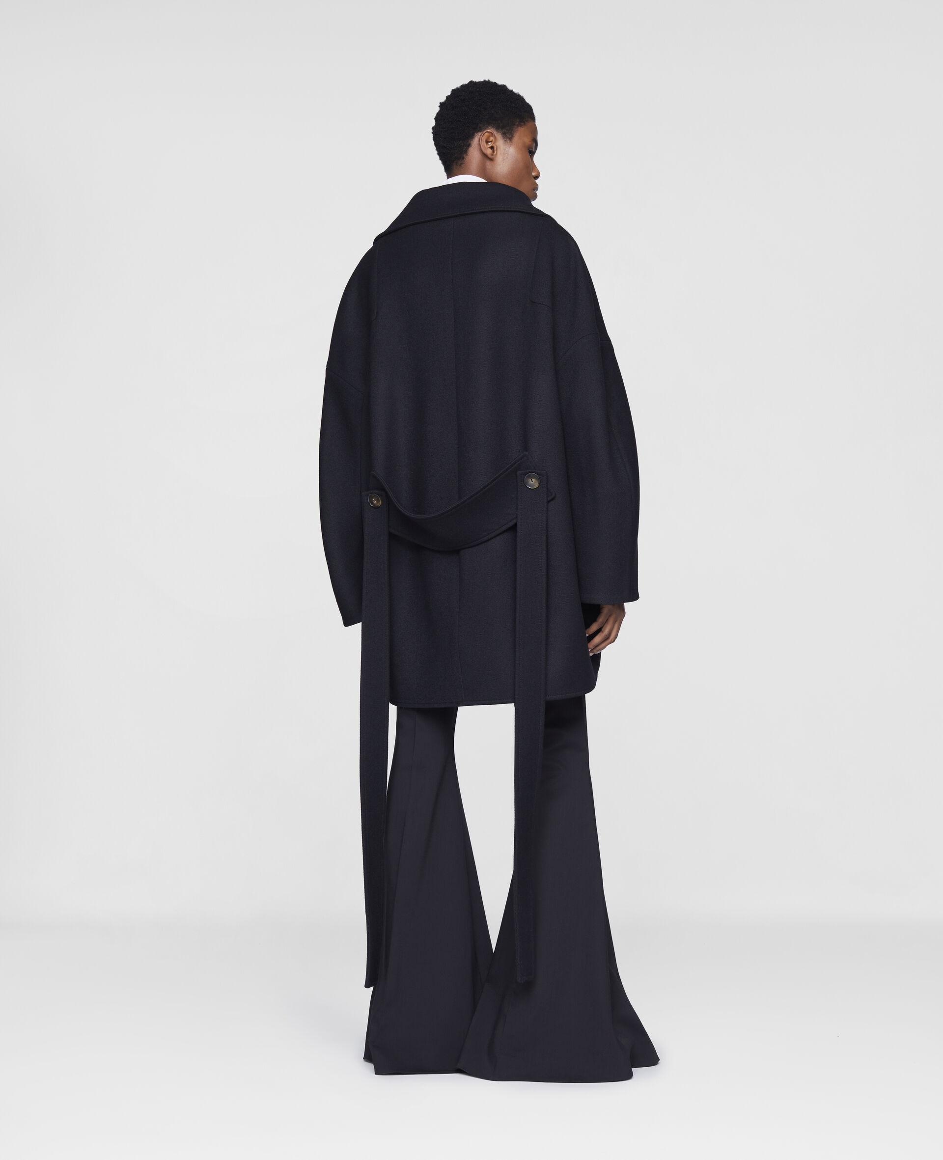Veda Wool Coat-Black-large image number 2