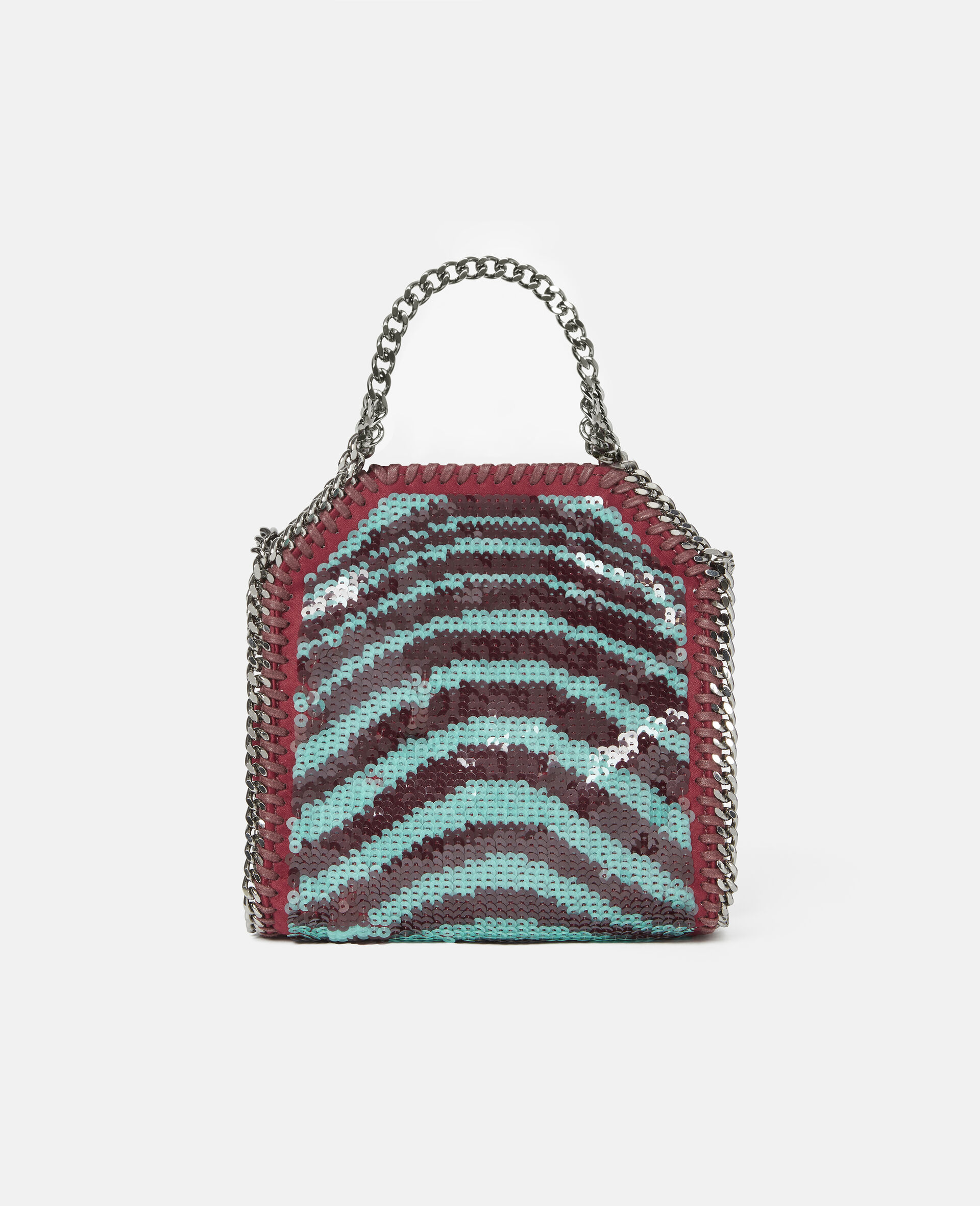 Falabella Tiny Tote Bag mit Pailletten-Rot-large image number 2
