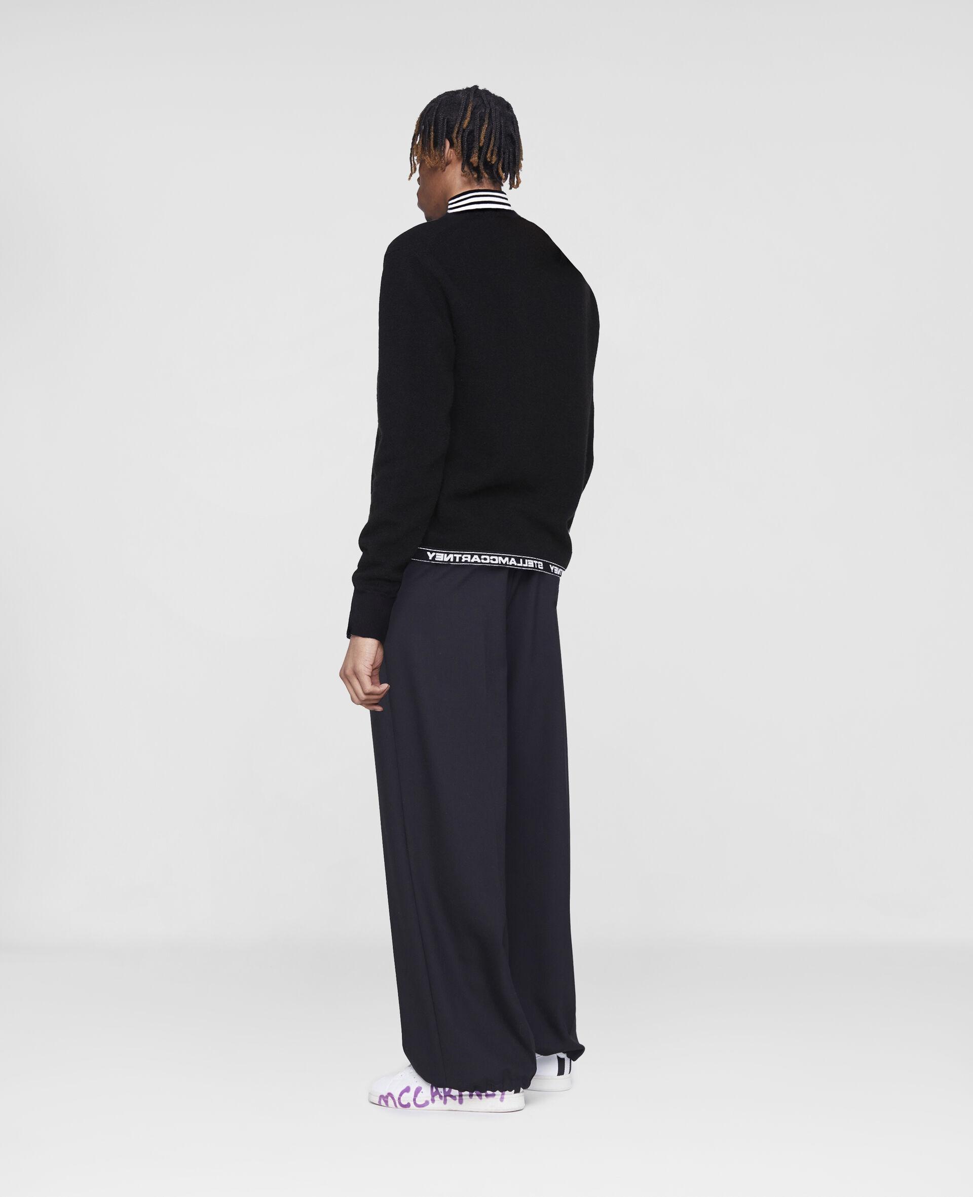 Taillierte Hosen mit Stella Logo -Schwarz-large image number 2