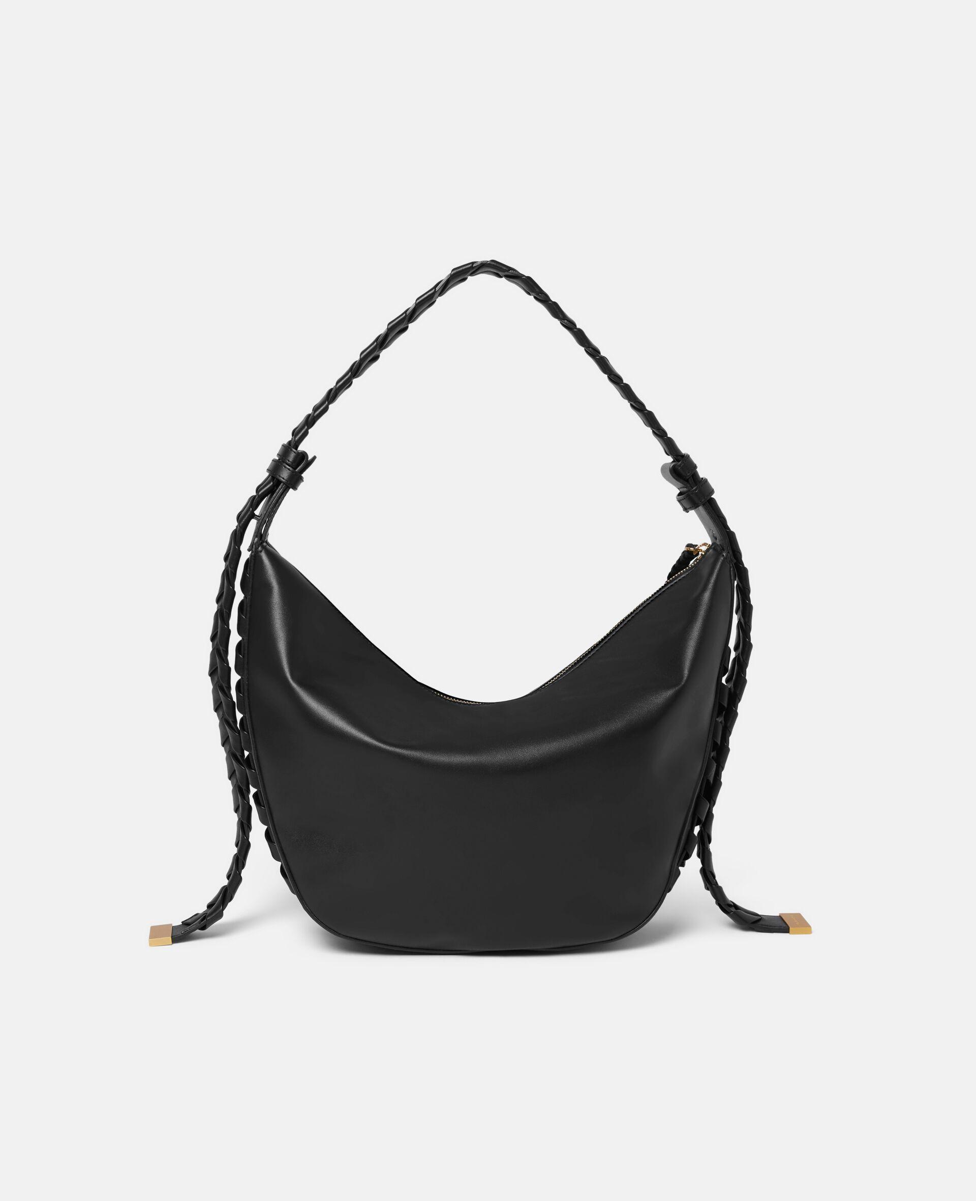 Medium Zip Hobo Shoulder Bag-Black-large image number 2