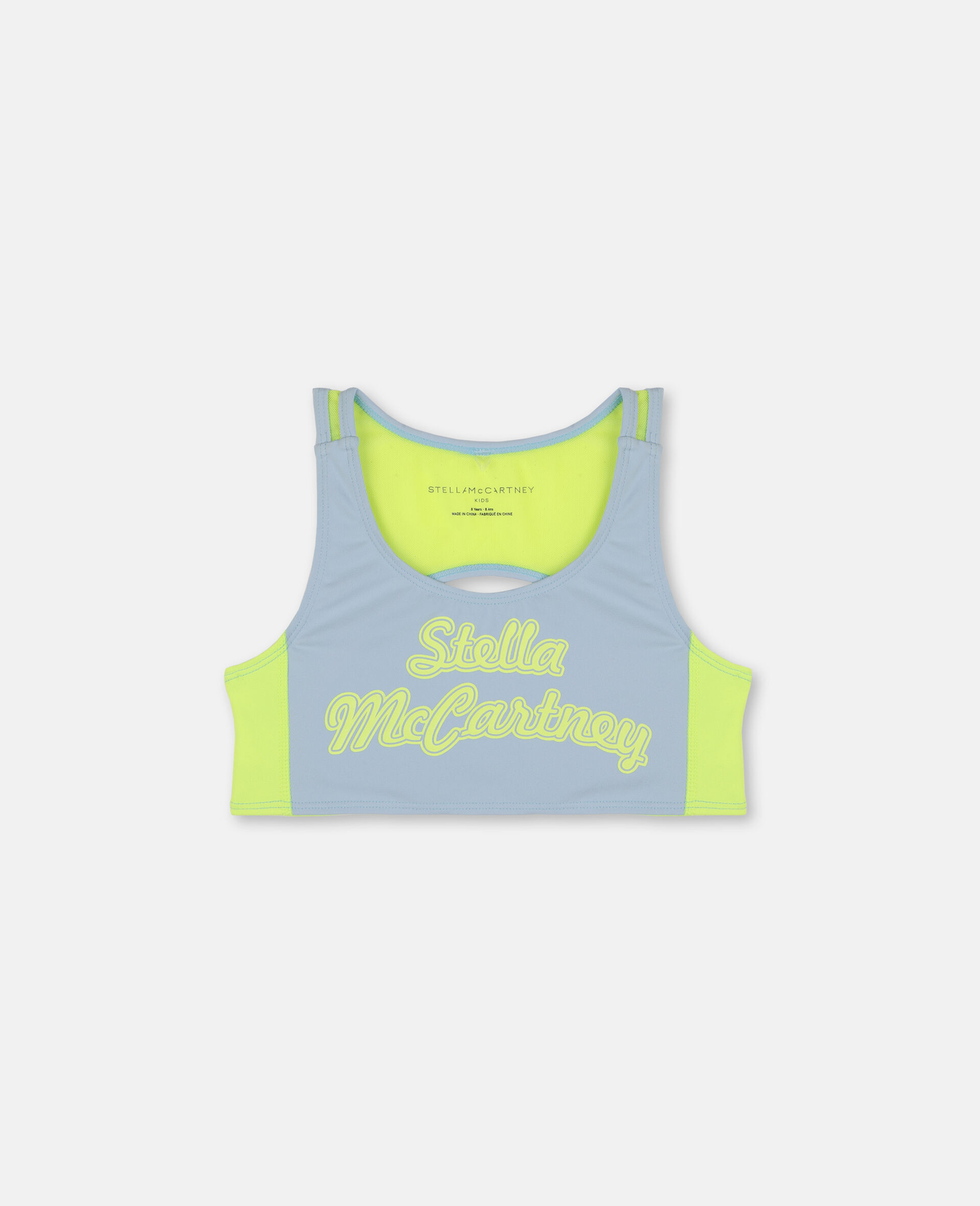 Logo Heavy Jersey Active Bra-Blue-large image number 0