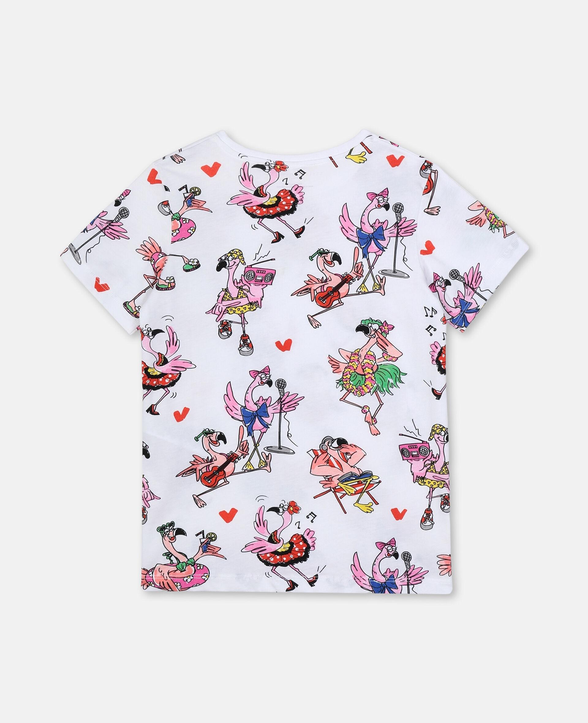 Flamingo Party Cotton T-shirt-Multicolour-large image number 3