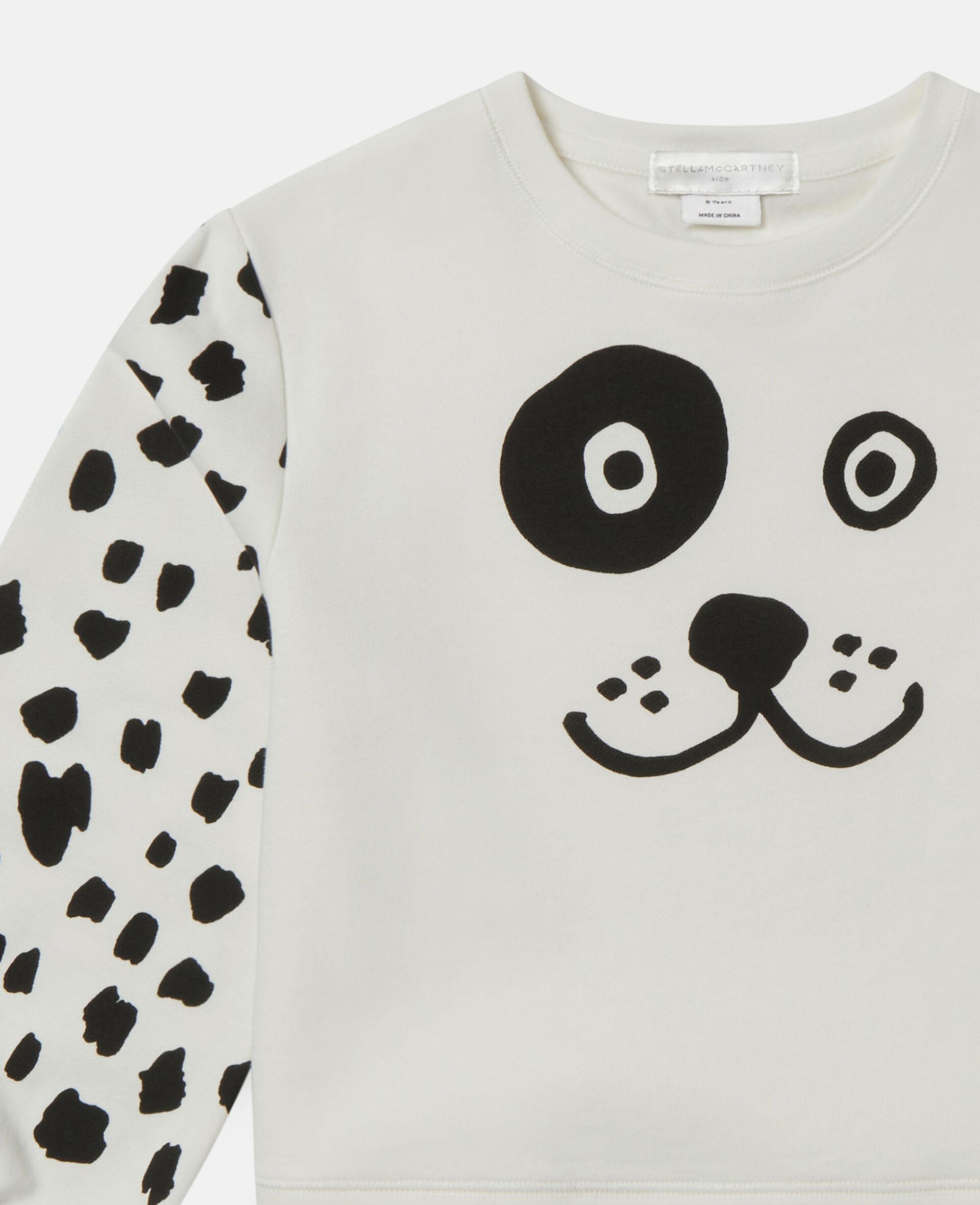Fleece-Trainingsanzug mit Dalmatiner-Punkte-Print-Weiß-large image number 1