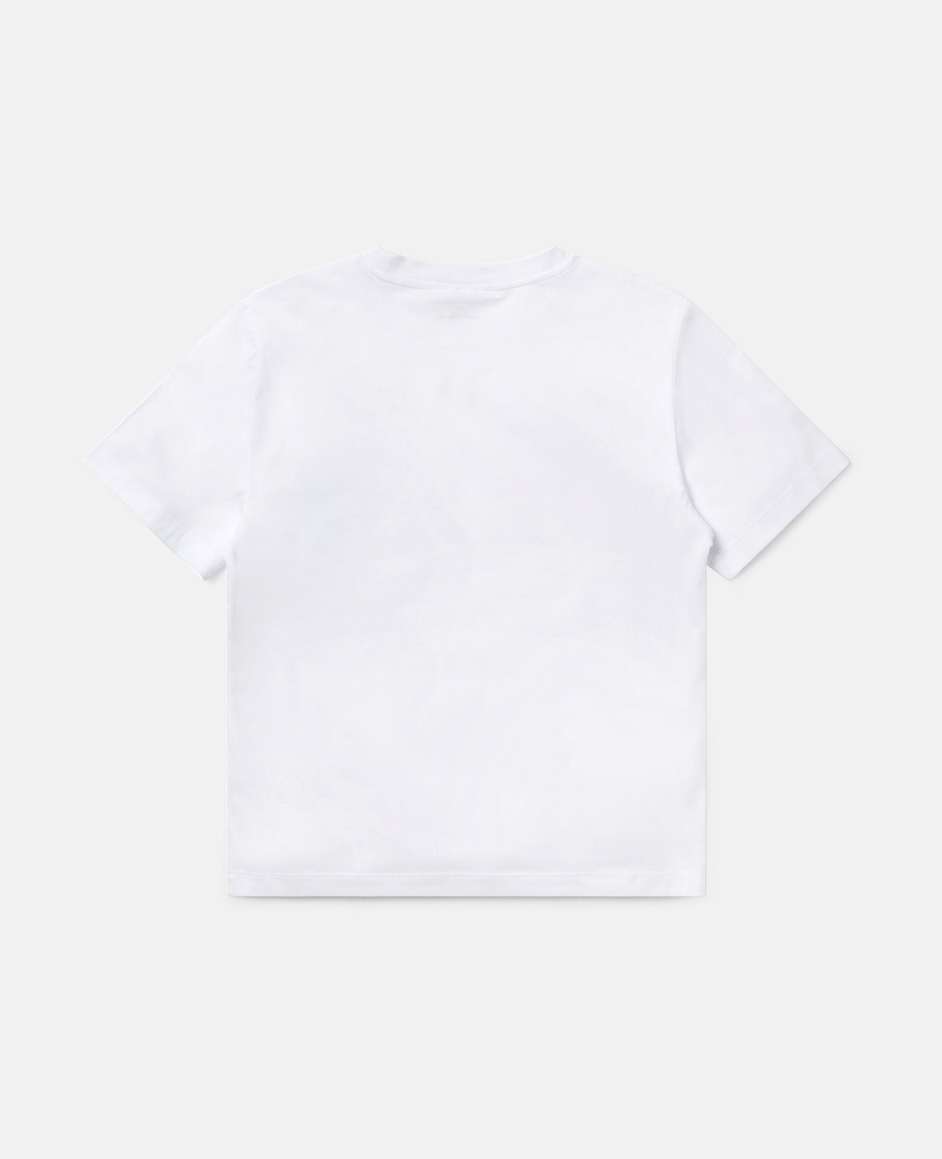 运动阔型棉质 T 恤-白色-large image number 3