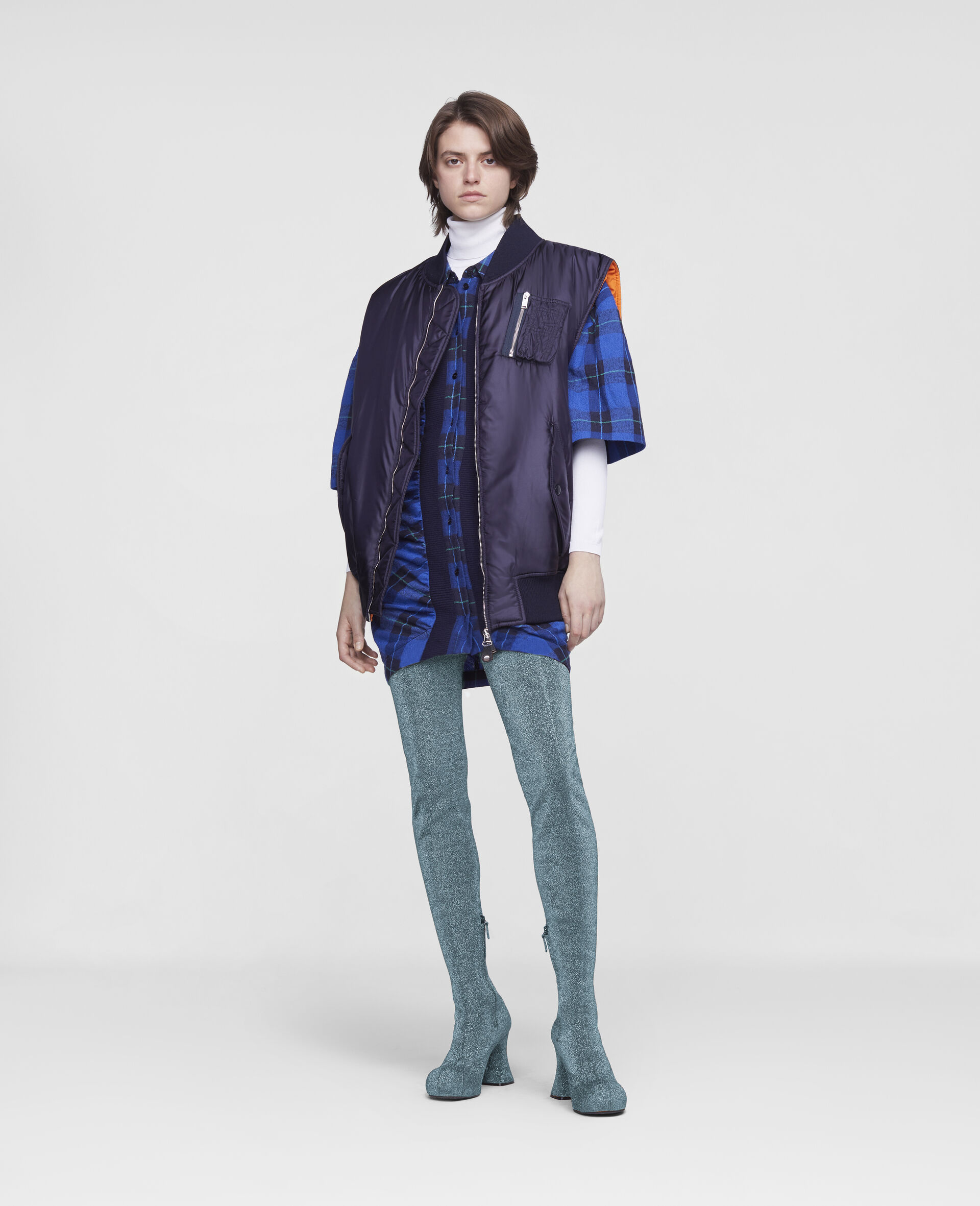 Madora Sleeveless Jacket-Blue-large image number 1