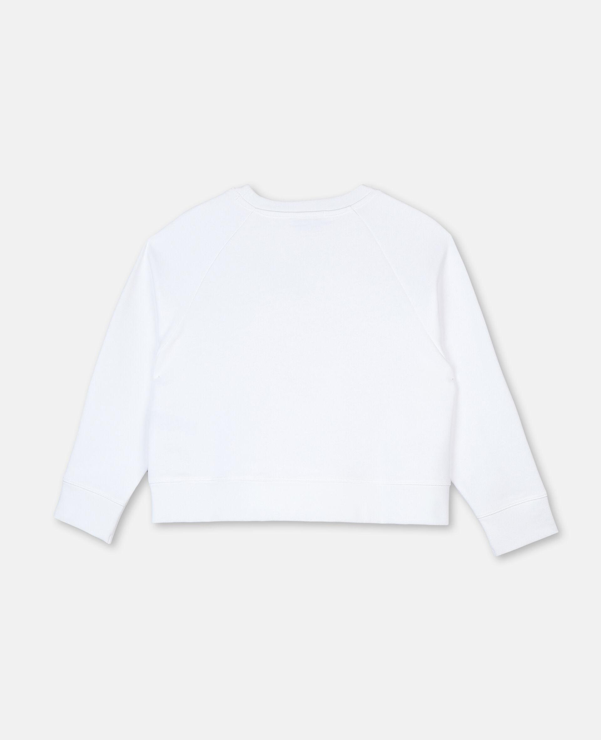 Felpa in Cotone con Logo Mandarino-Bianco-large image number 3