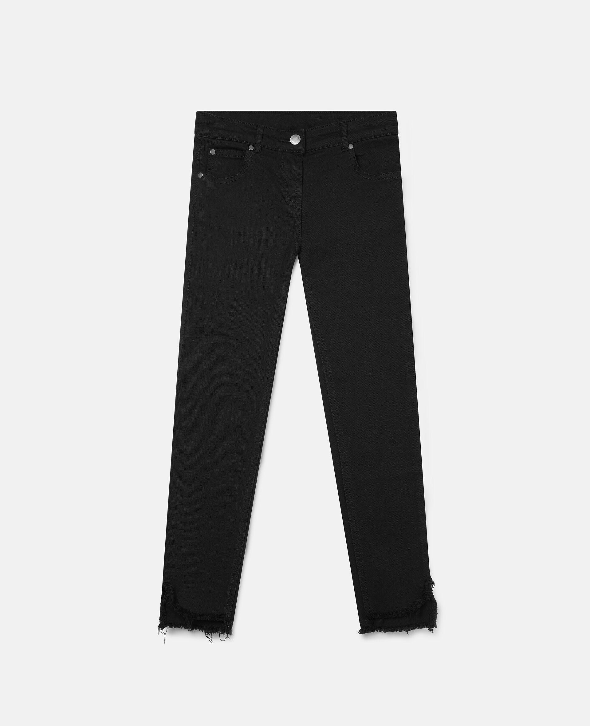 Denim Pants-Black-large image number 0