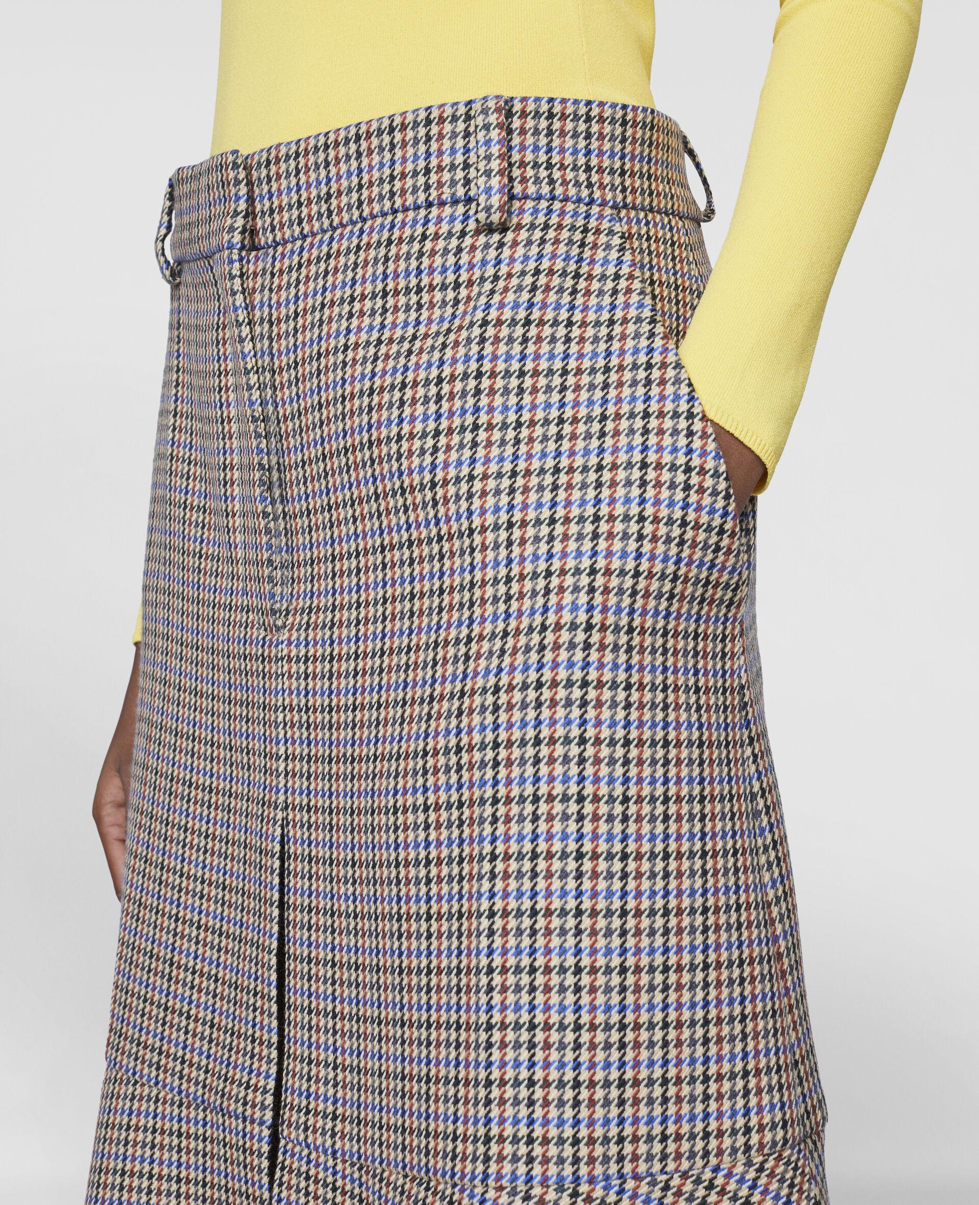 Naomi Wool Skirt-Beige-large image number 3