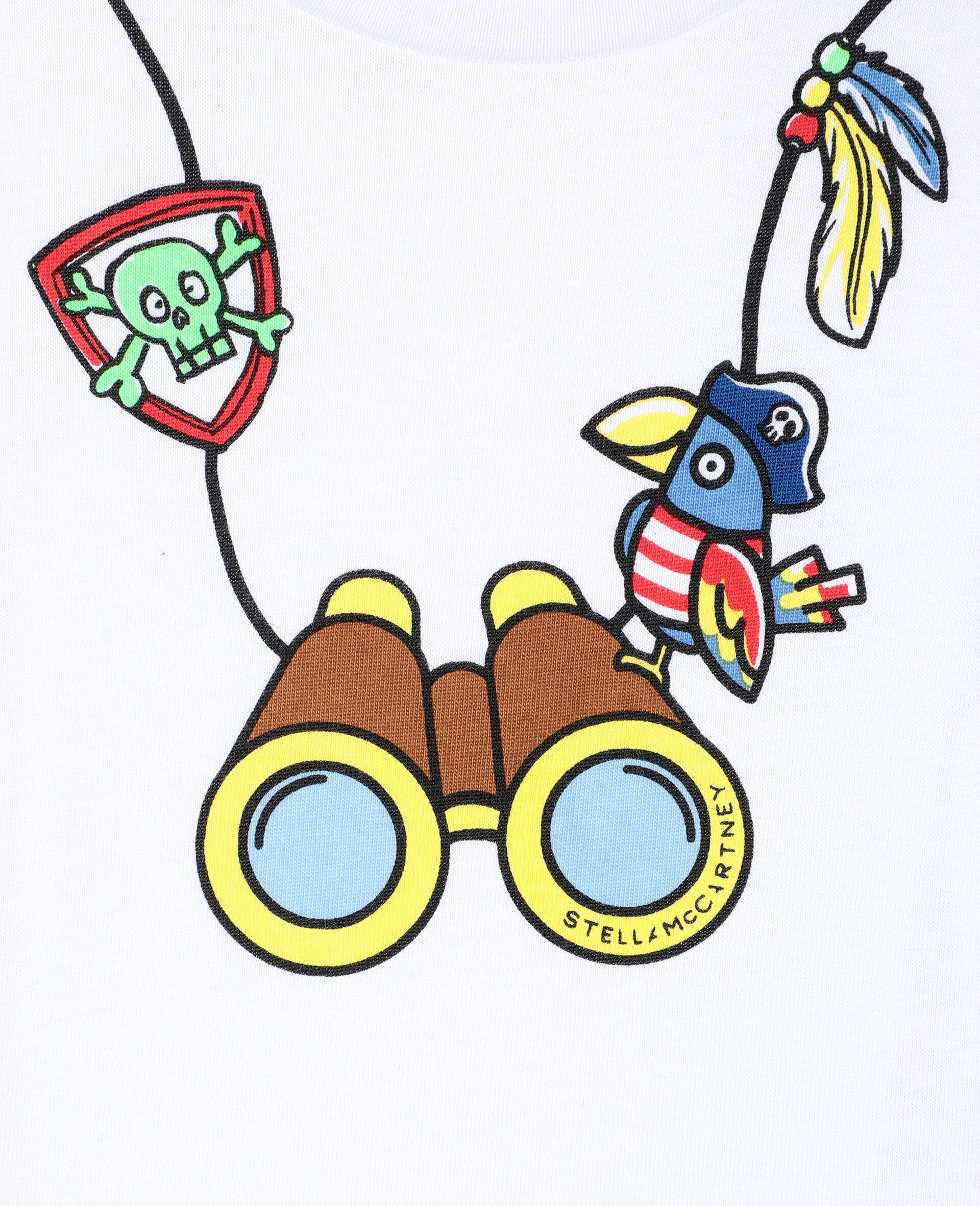 Binocular 棉质 T 恤 -白色-large image number 1