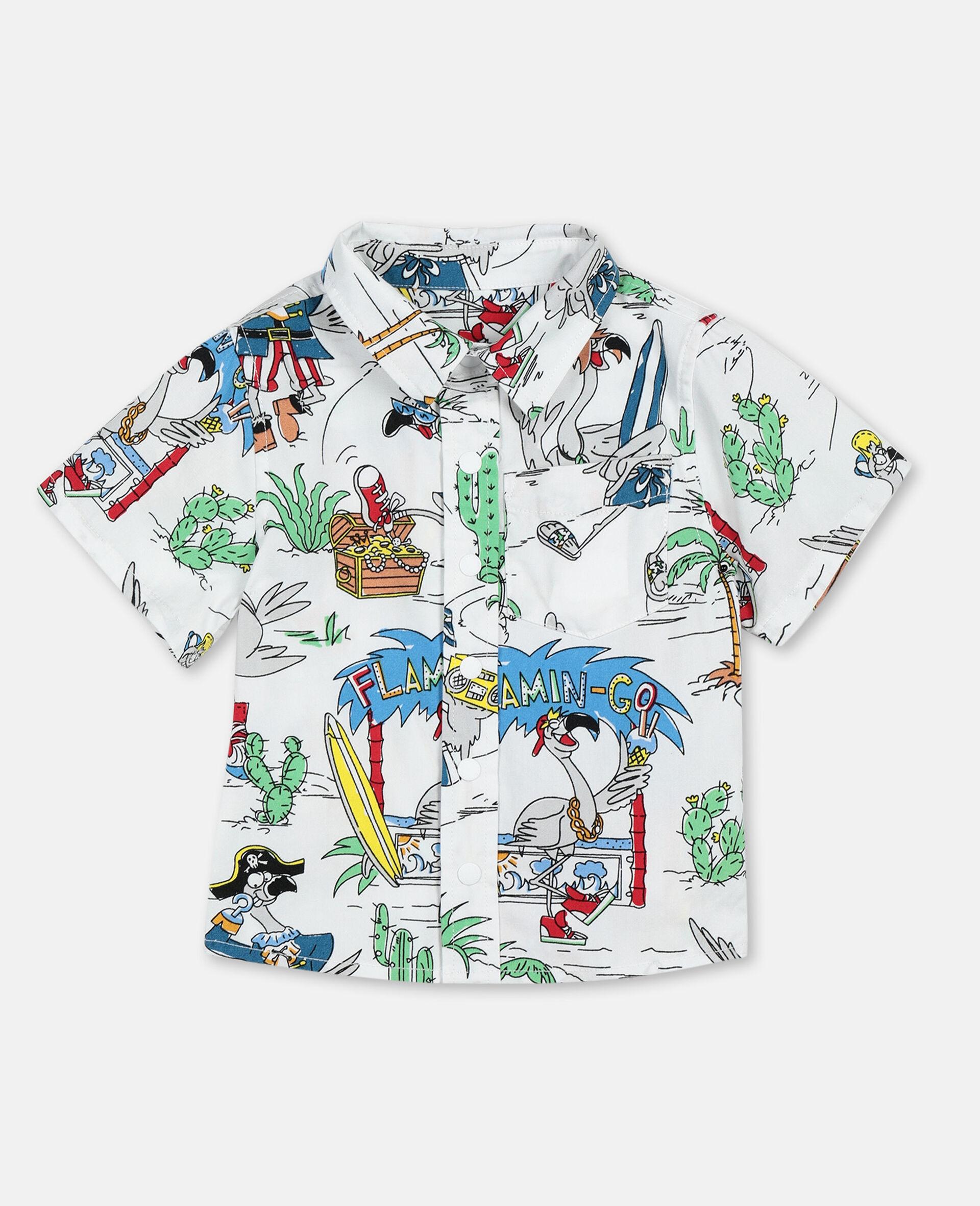 Hemd aus Baumwolle mit Flamingo-Land-Print -Bunt-large image number 0