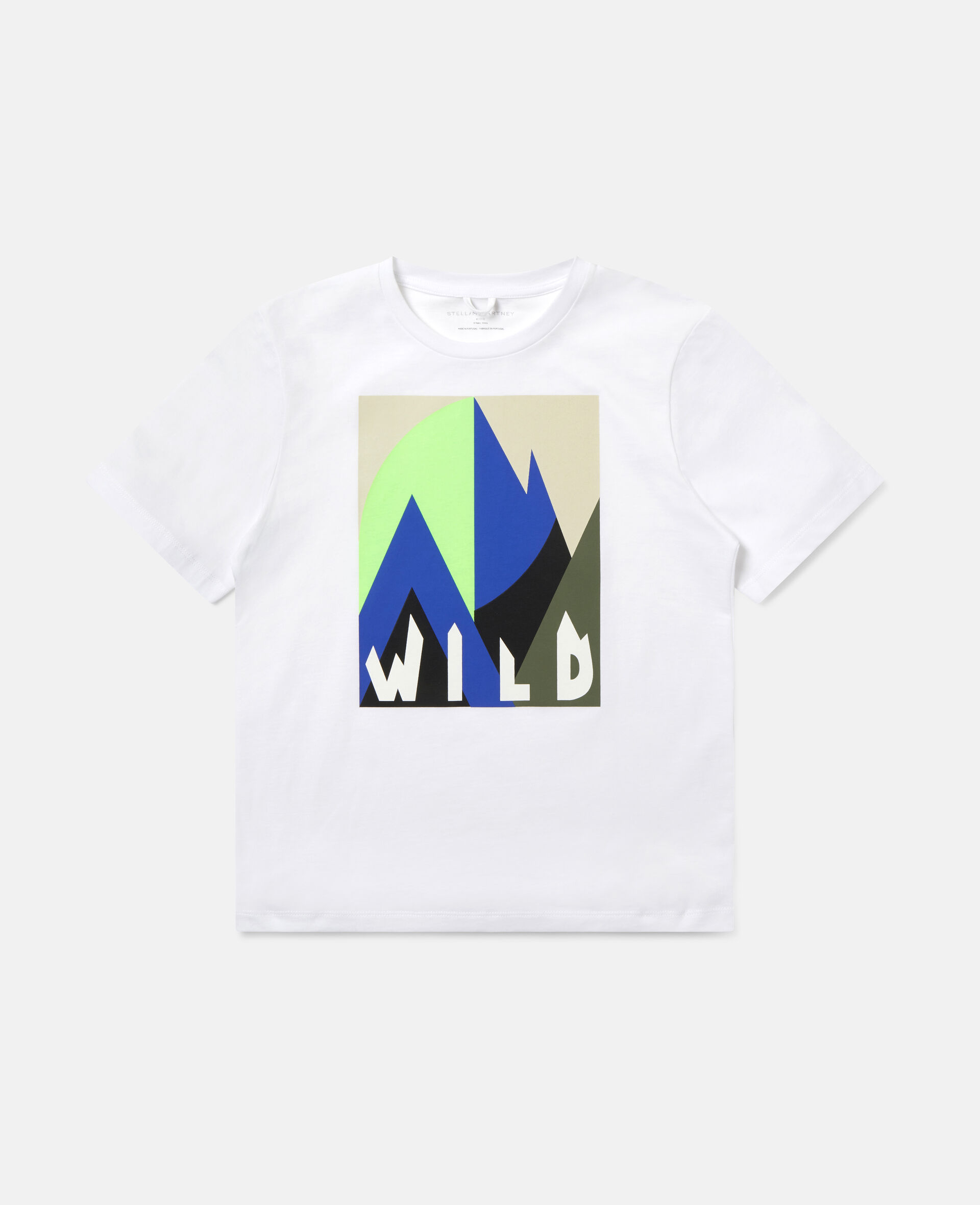 Oversized Graphic Mountain T-shirt-White-large image number 0