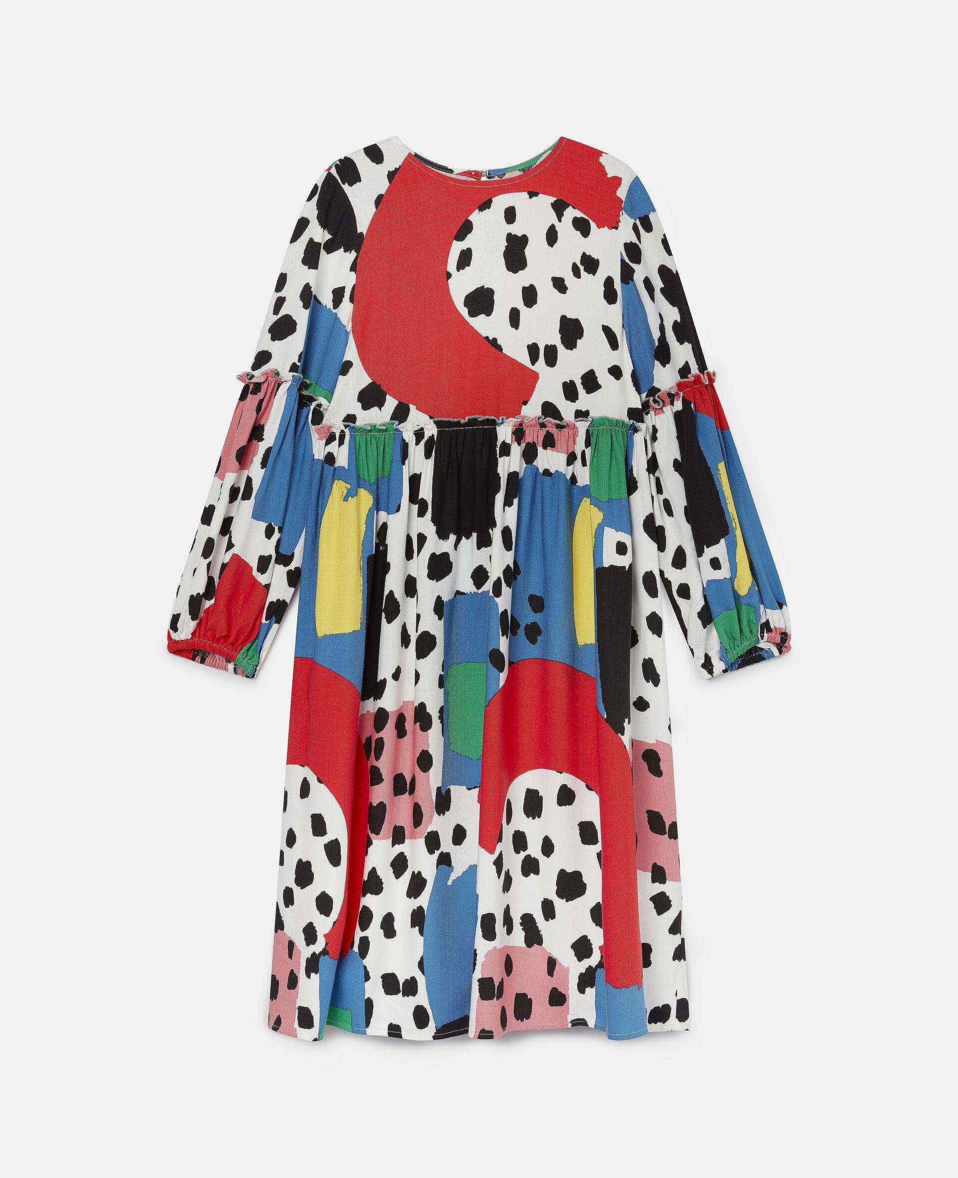 Dalmatian Spots Twill Dress-Multicolour-large image number 0