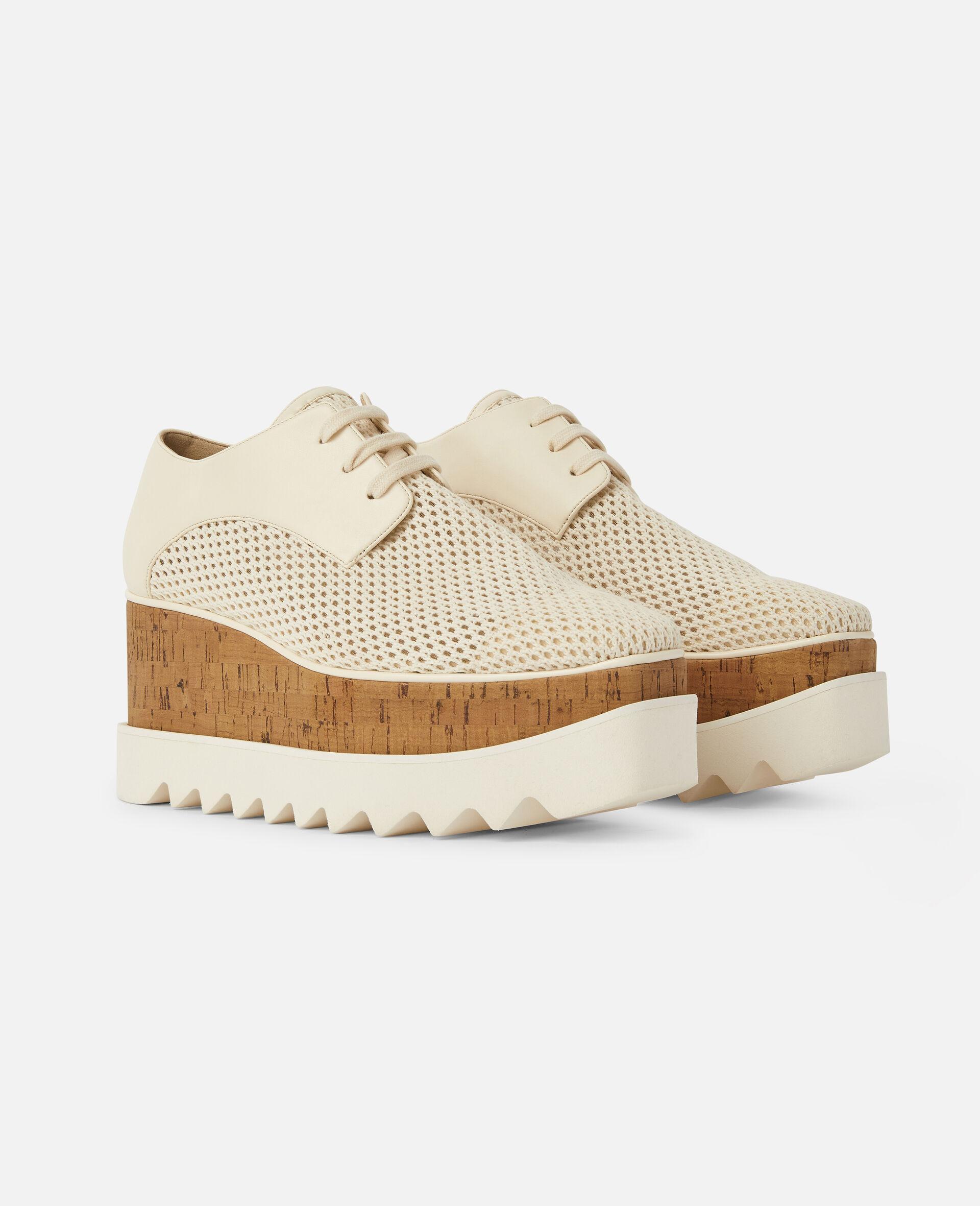 Chaussures compensées Elyse en mesh tissé -Blanc-large image number 1